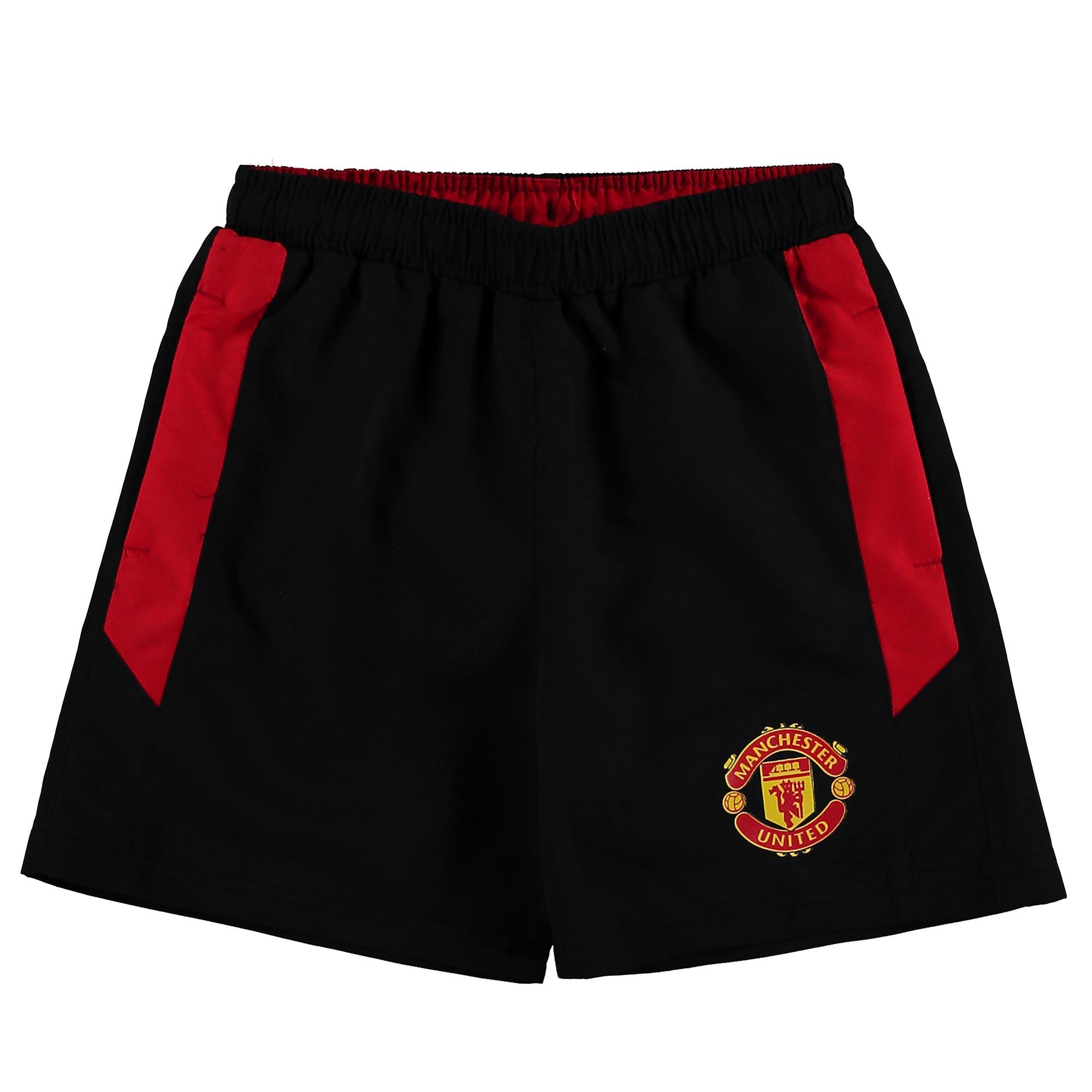 Manchester United Essential Fleece Shorts - Black - Kids