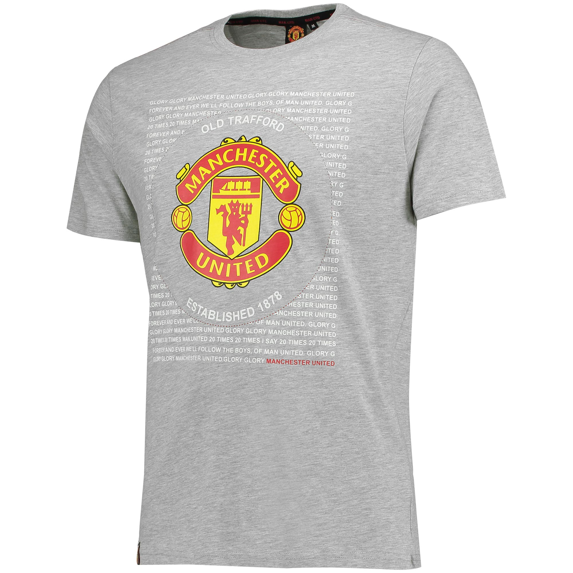 Manchester United Essential Crest T-Shirt - Grey - Mens