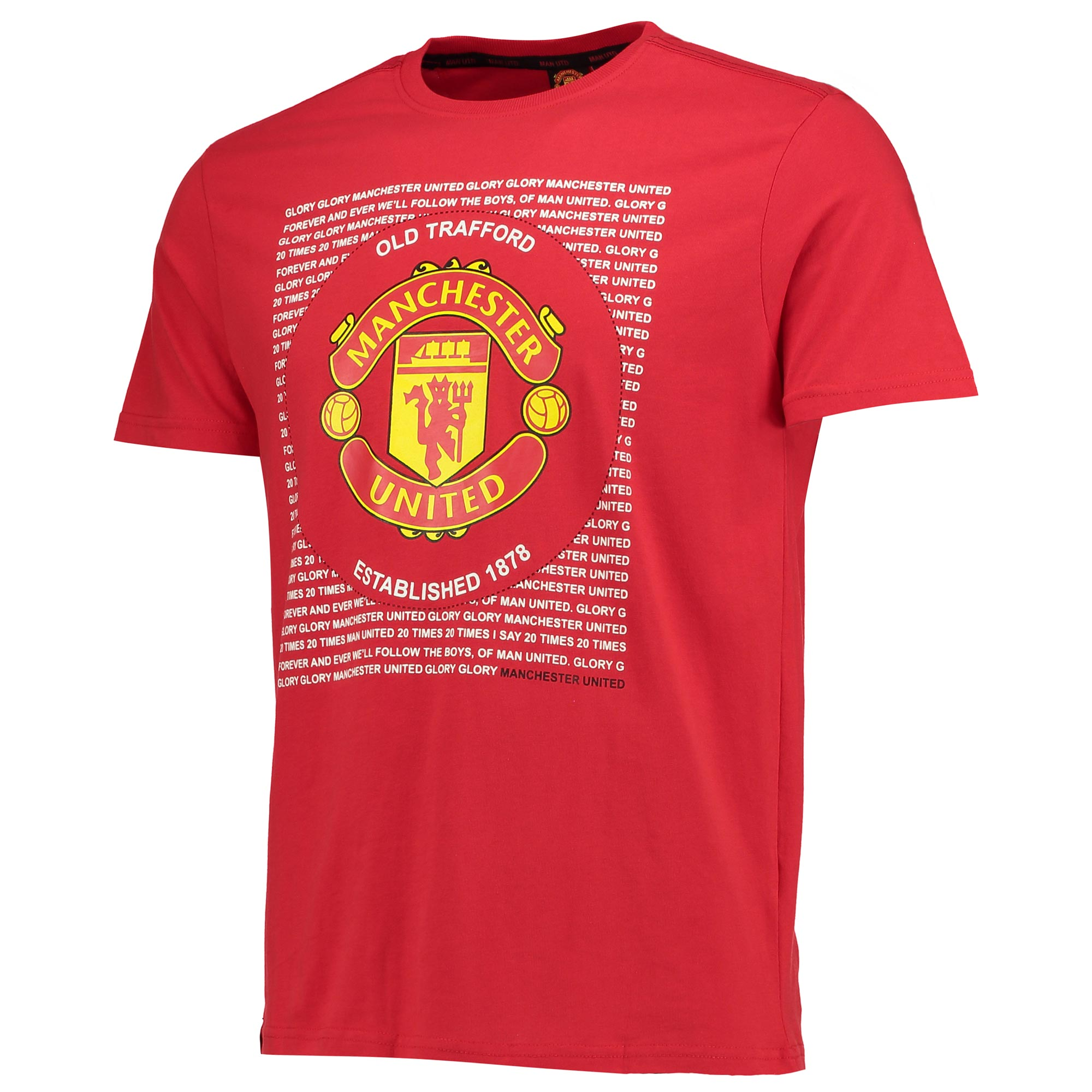 Manchester United Essential Crest T-Shirt - Red - Mens