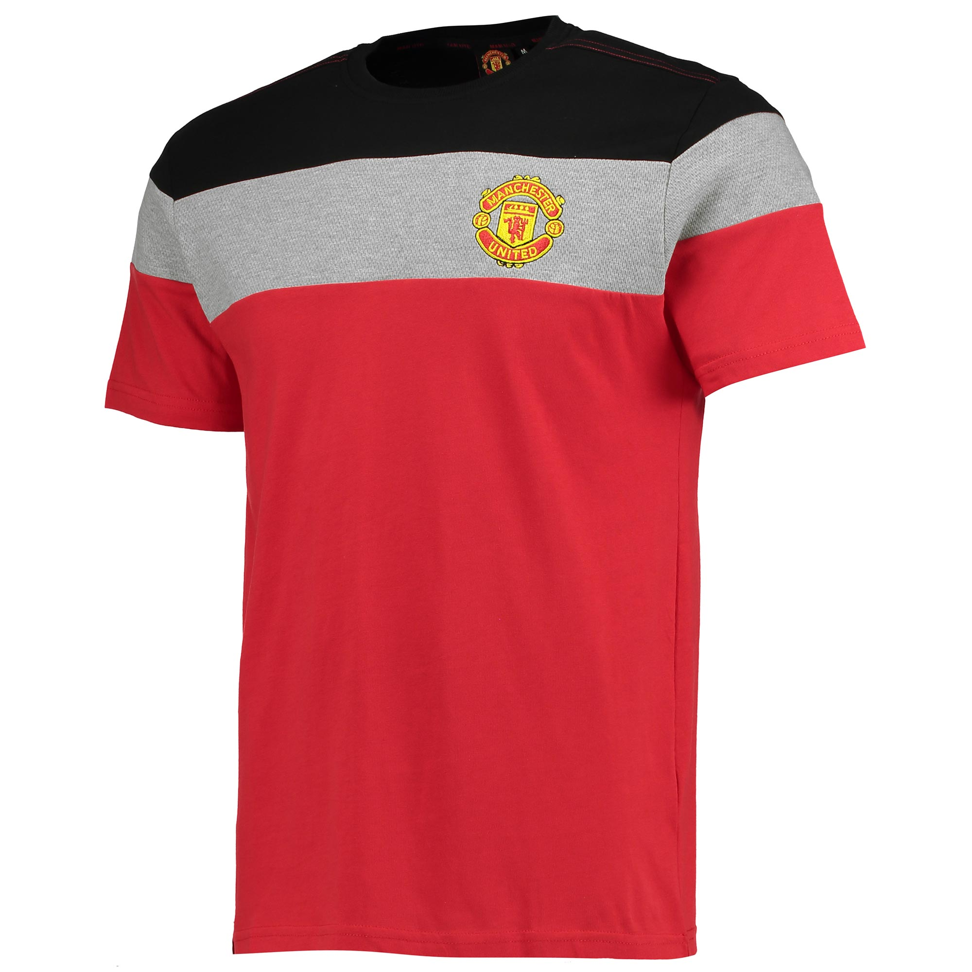 Manchester United Essential Mesh T-Shirt - Red - Mens