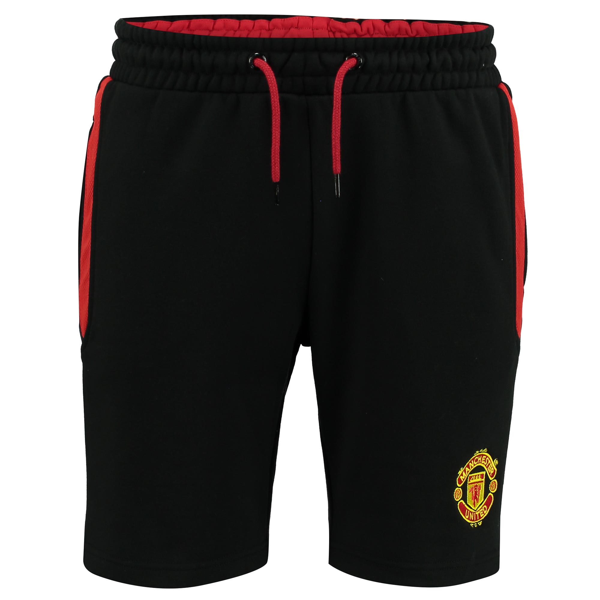 Manchester United Essential Fleece Shorts - Black - Mens