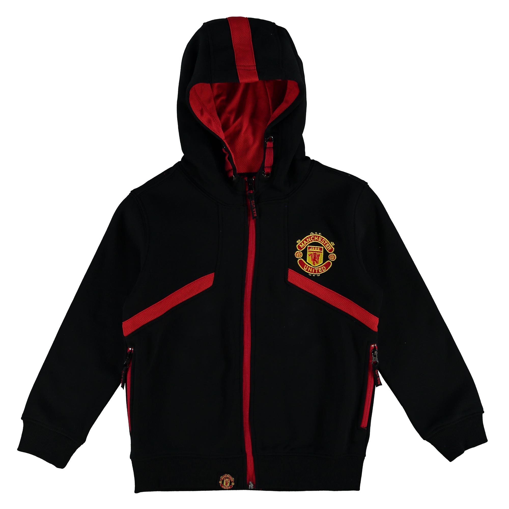 Manchester United Essential Full Zip Hoodie - Black - Kids
