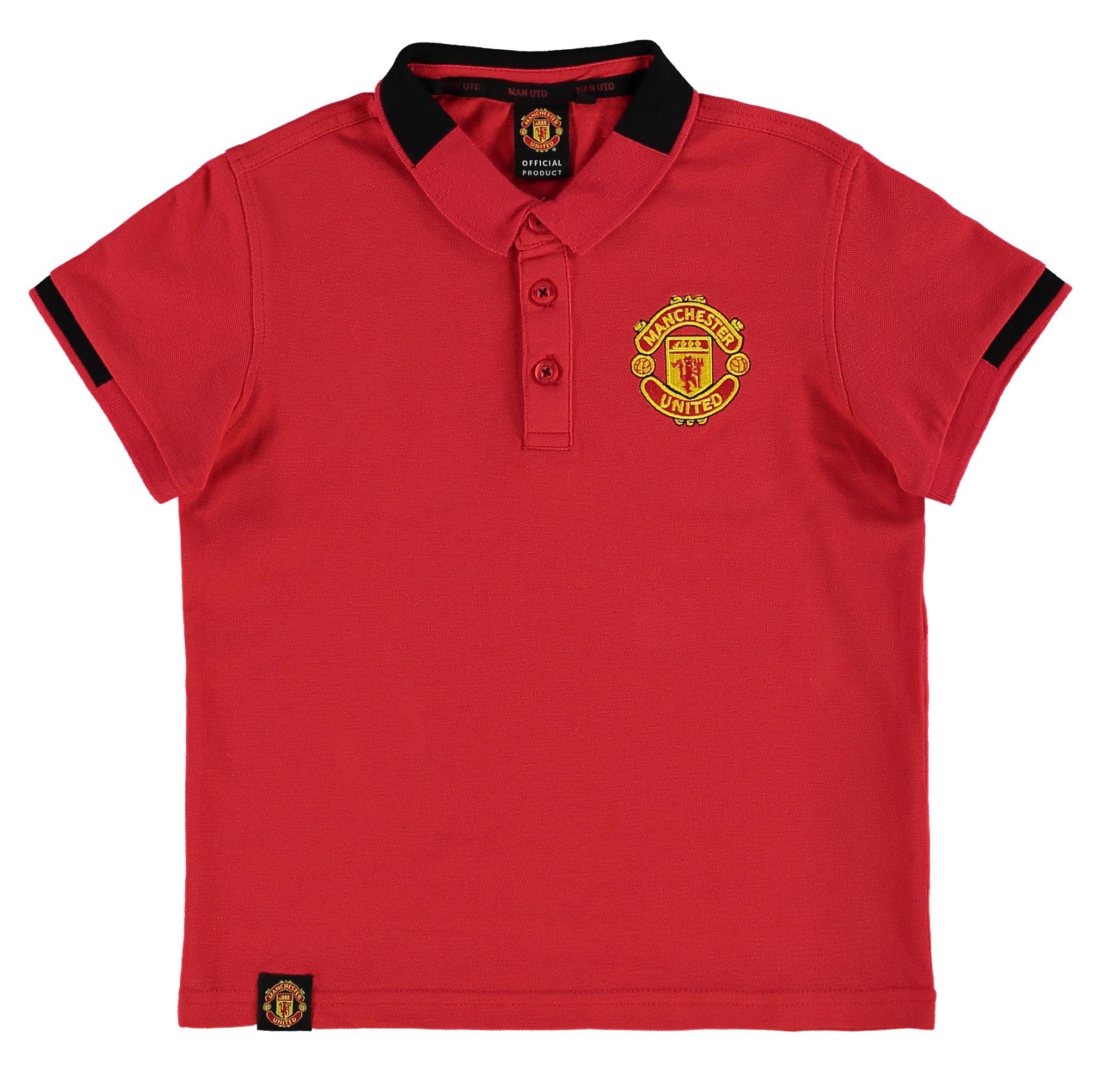 Polo avec écusson Manchester United Essential - Rouge- Enfant