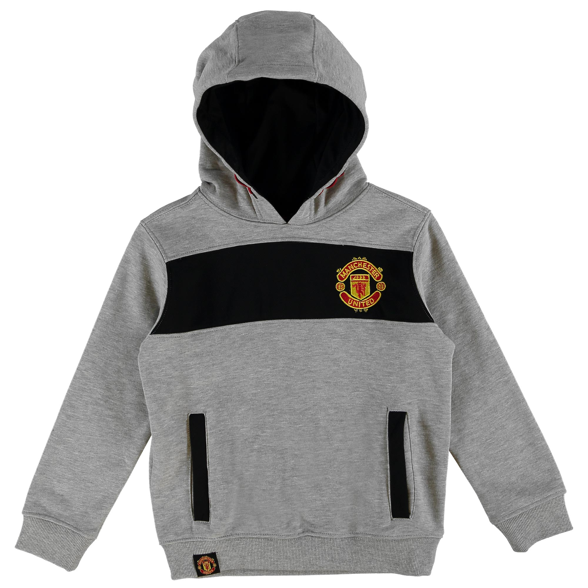 Manchester United Essential Mesh Hoodie - Grey - Kids