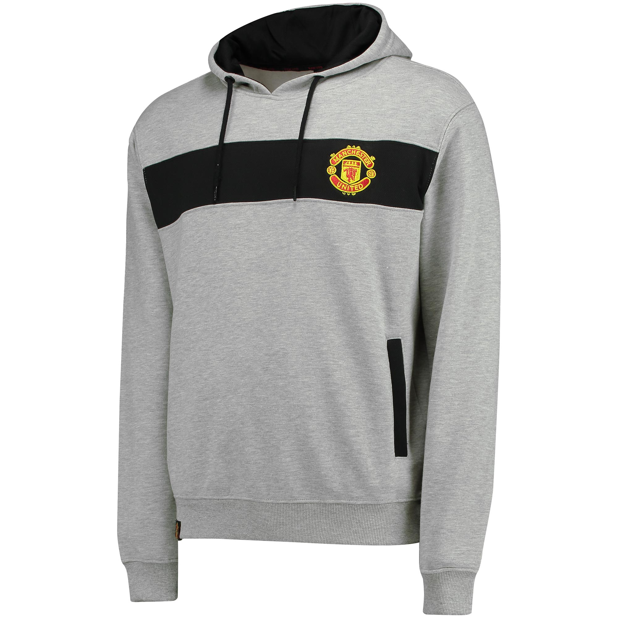 Manchester United Essential Mesh Hoodie - Grey - Mens