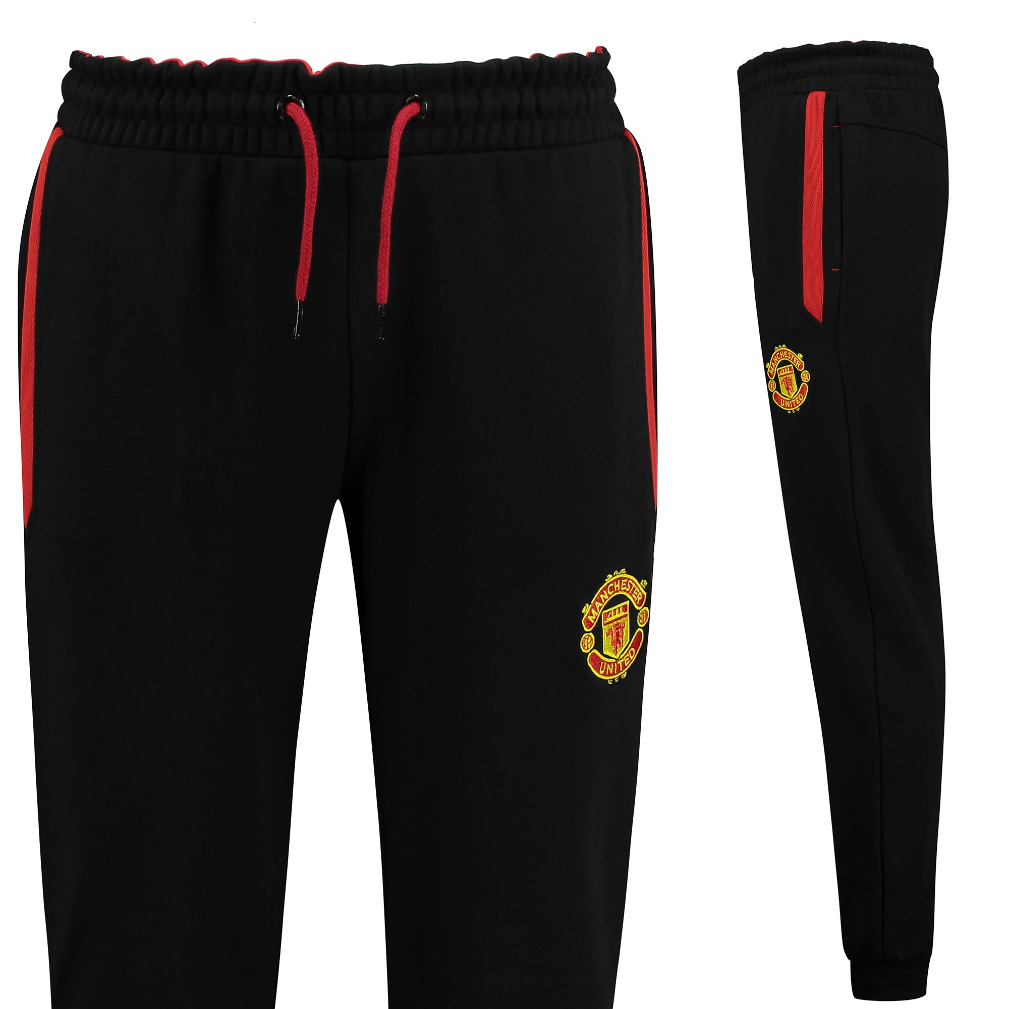 Manchester United Essential Fleece Joggers - Black - Mens
