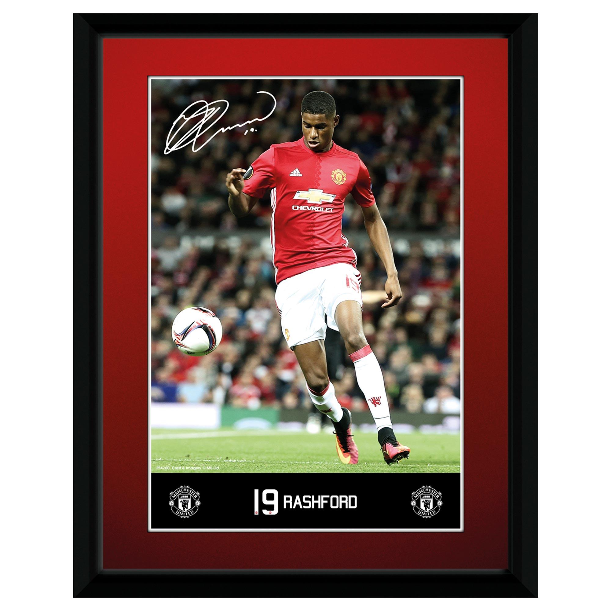 Manchester United 16-17 Rashford Framed Print 8 x 6