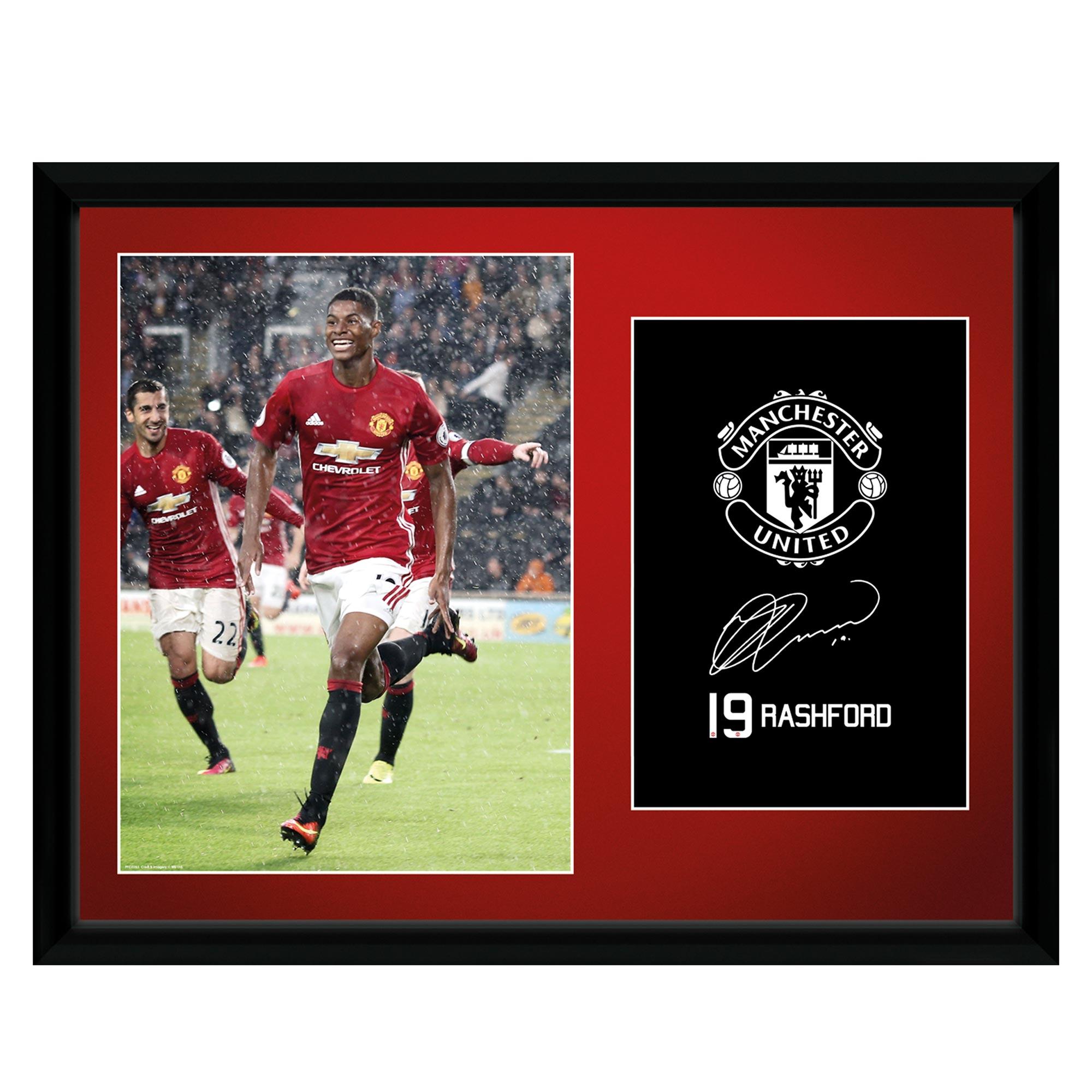Manchester United 16-17 Rashford Framed Print 16 x 12