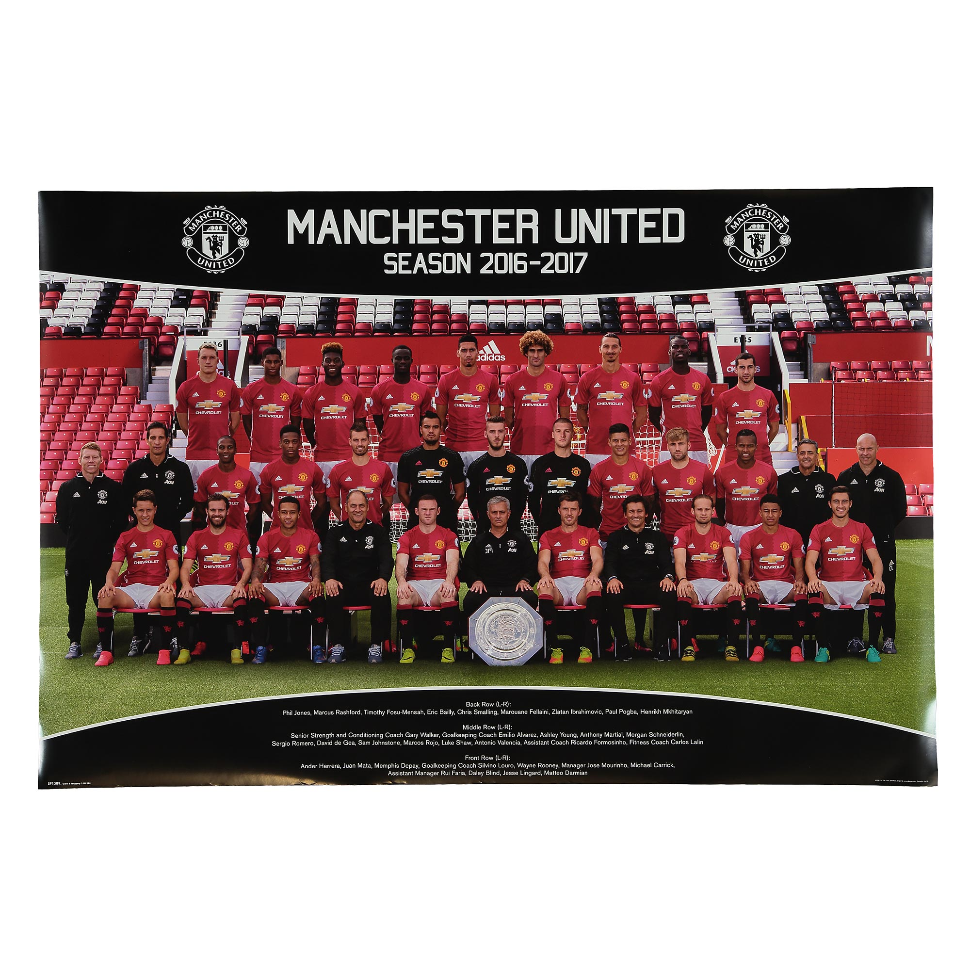 Manchester United 16-17 Team Poster - 61 x 92cm