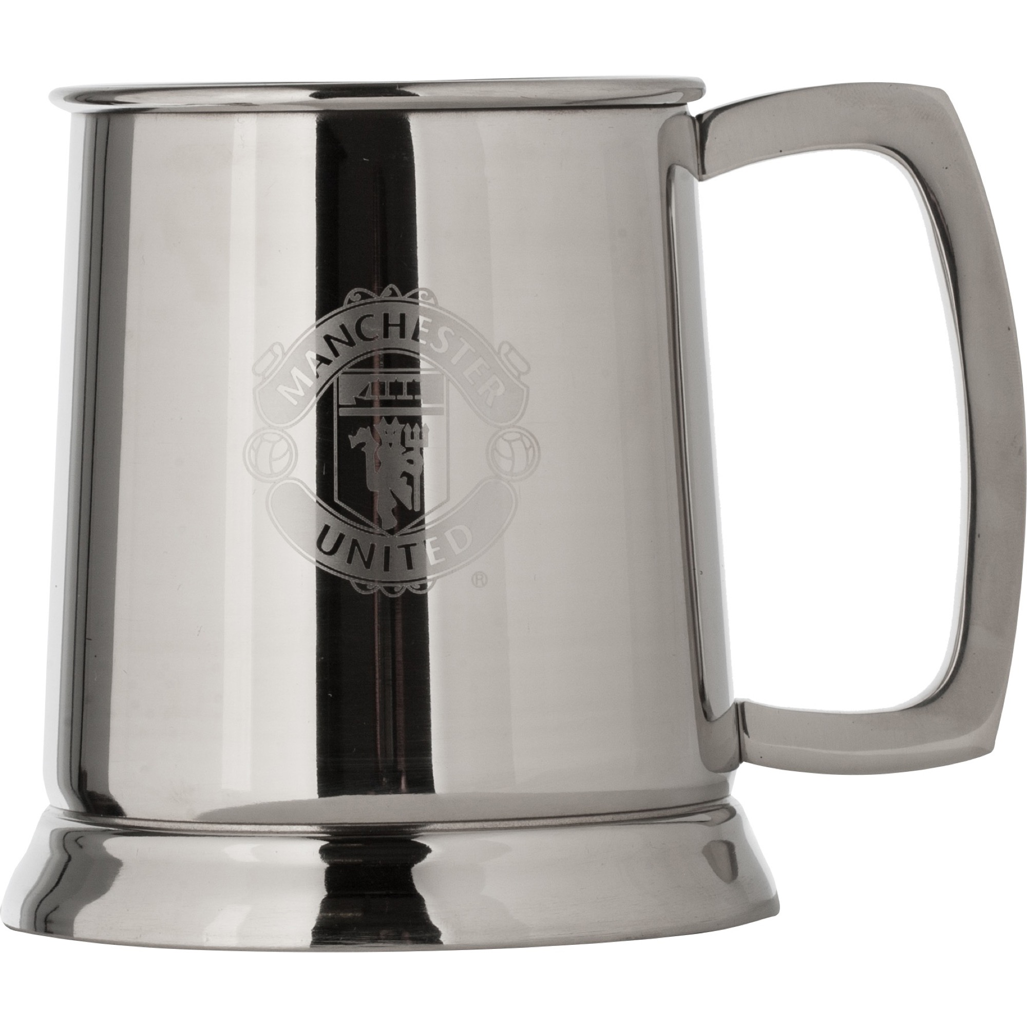 Manchester United Pint Tankard Stainles Steel with Glass Base