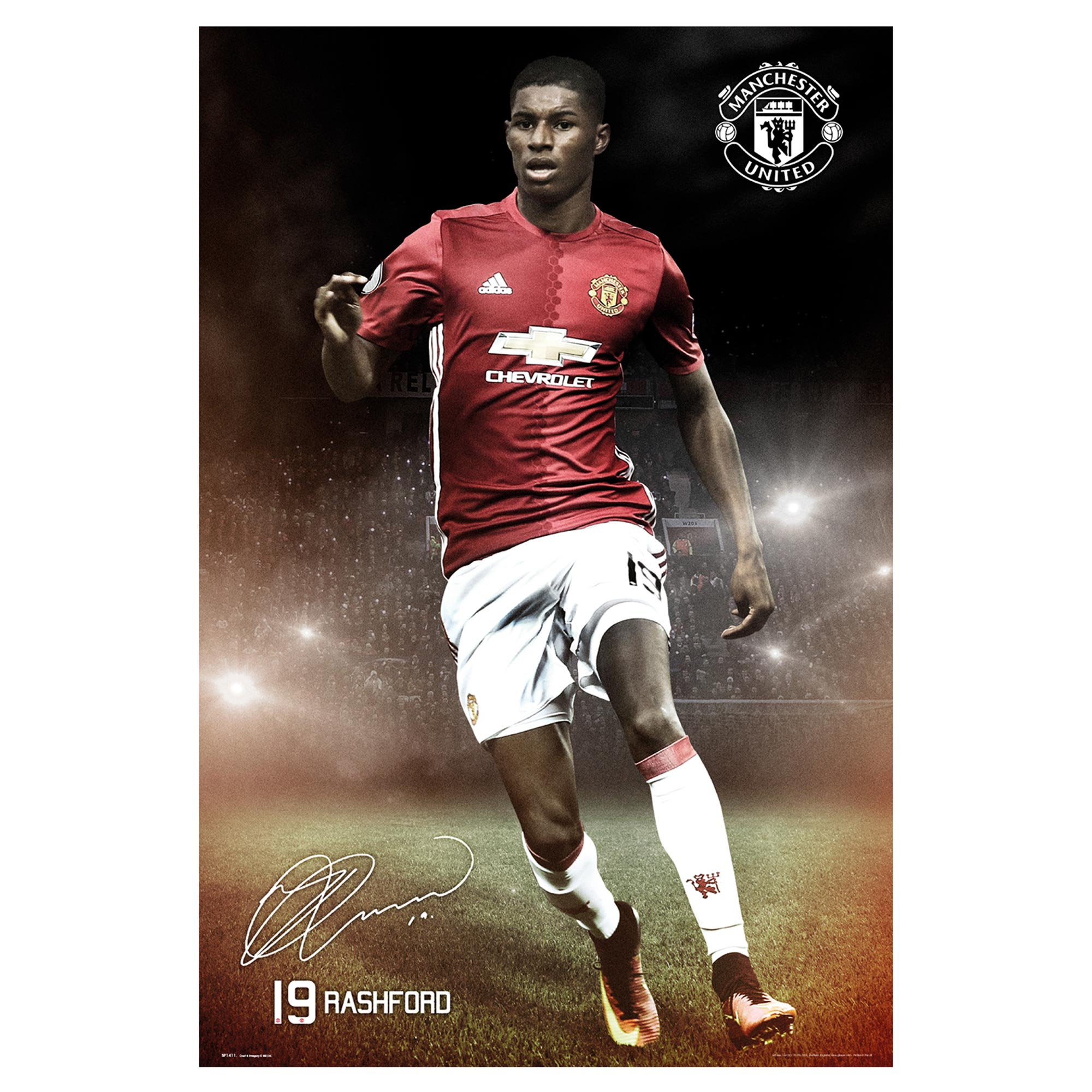 Manchester United 16-17 Rashford Poster - 61 x 92cm