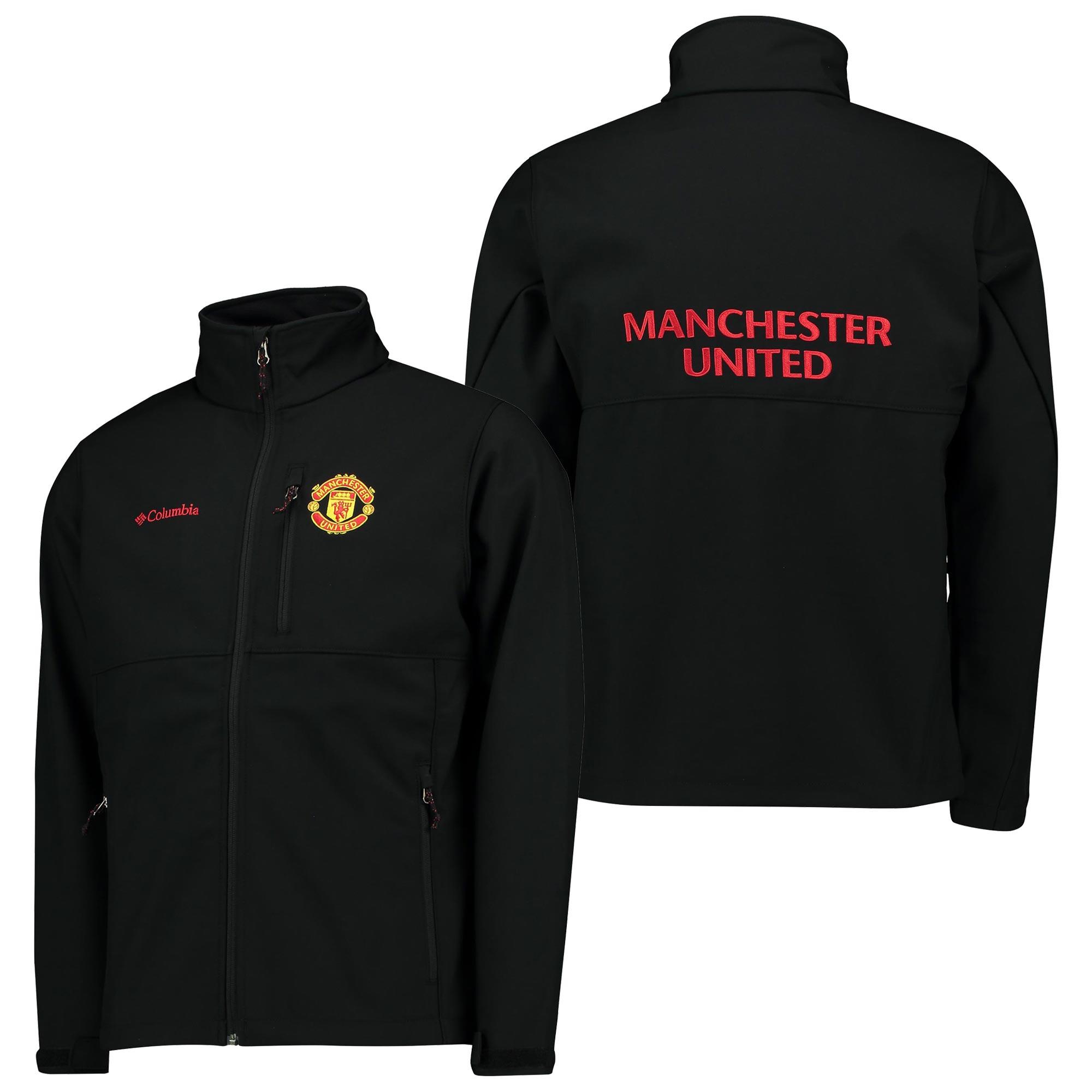 Manchester United Columbia Ascender Softshell Jacket - Black - Mens
