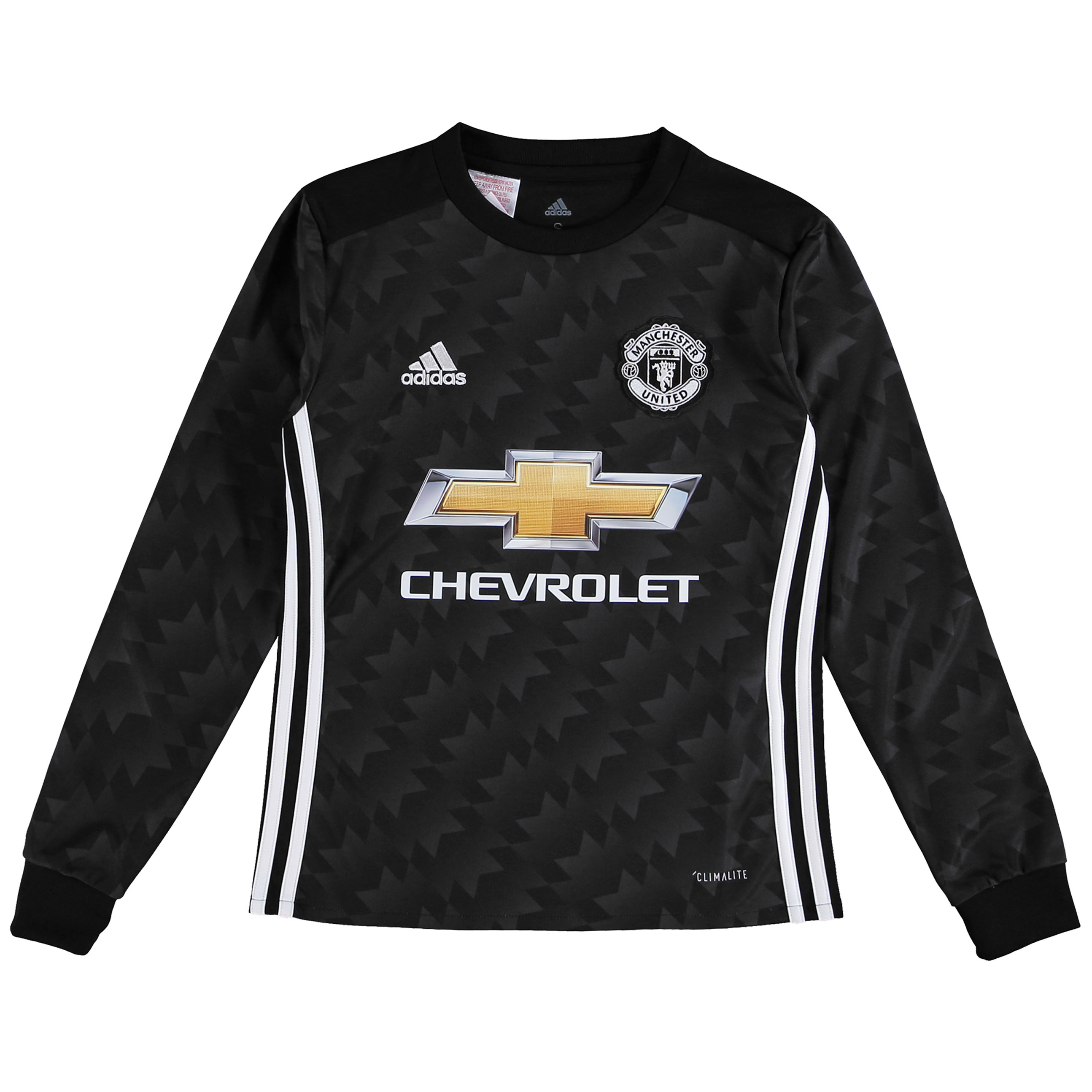 Manchester United Away Shirt 2017-18 - Kids - Long Sleeve