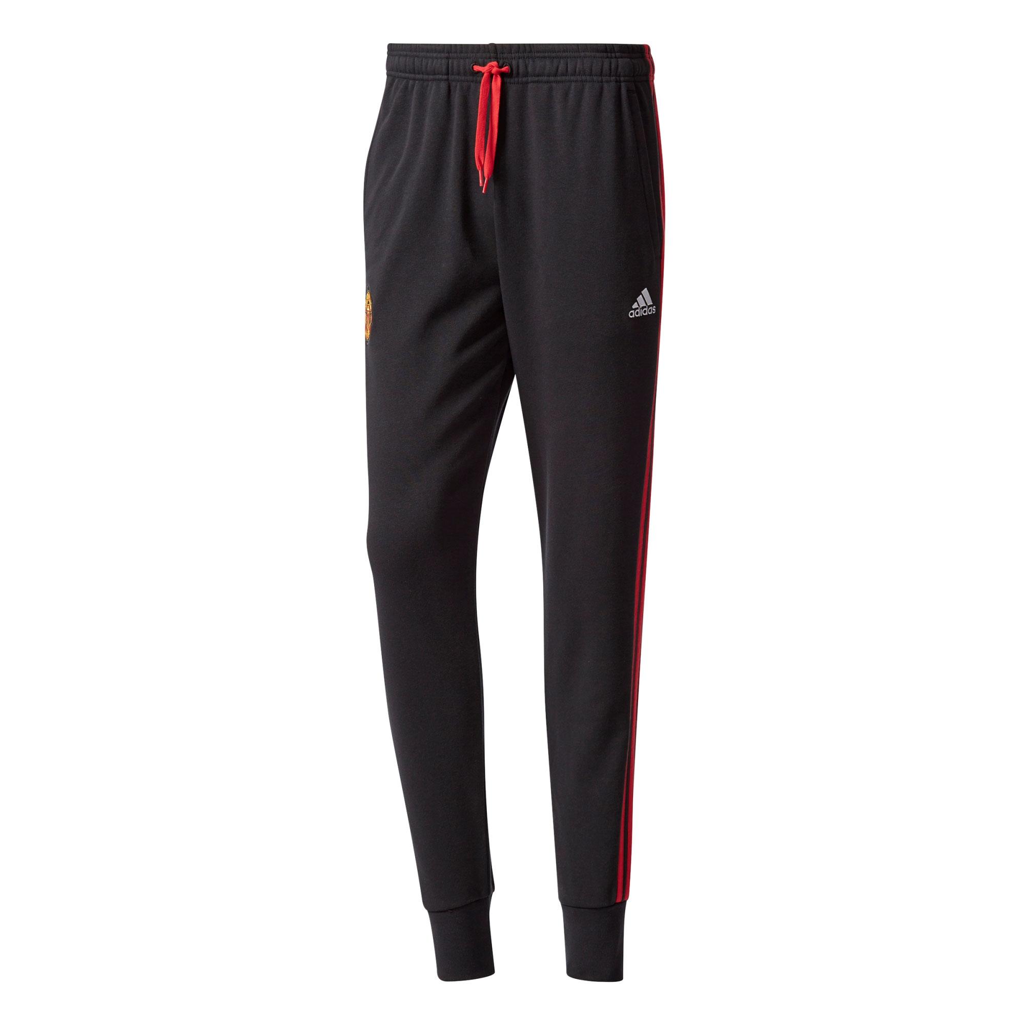 Manchester United 3 Stripe Pant - Black
