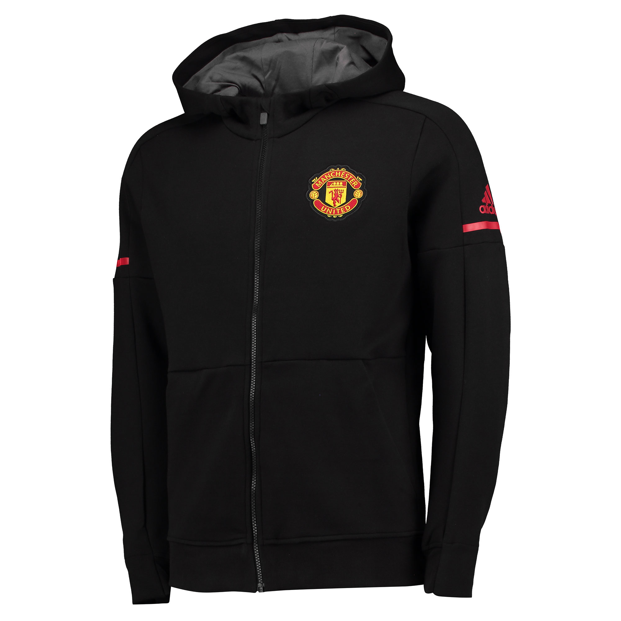 Manchester United Home Anthem Jacket - Black - Kids