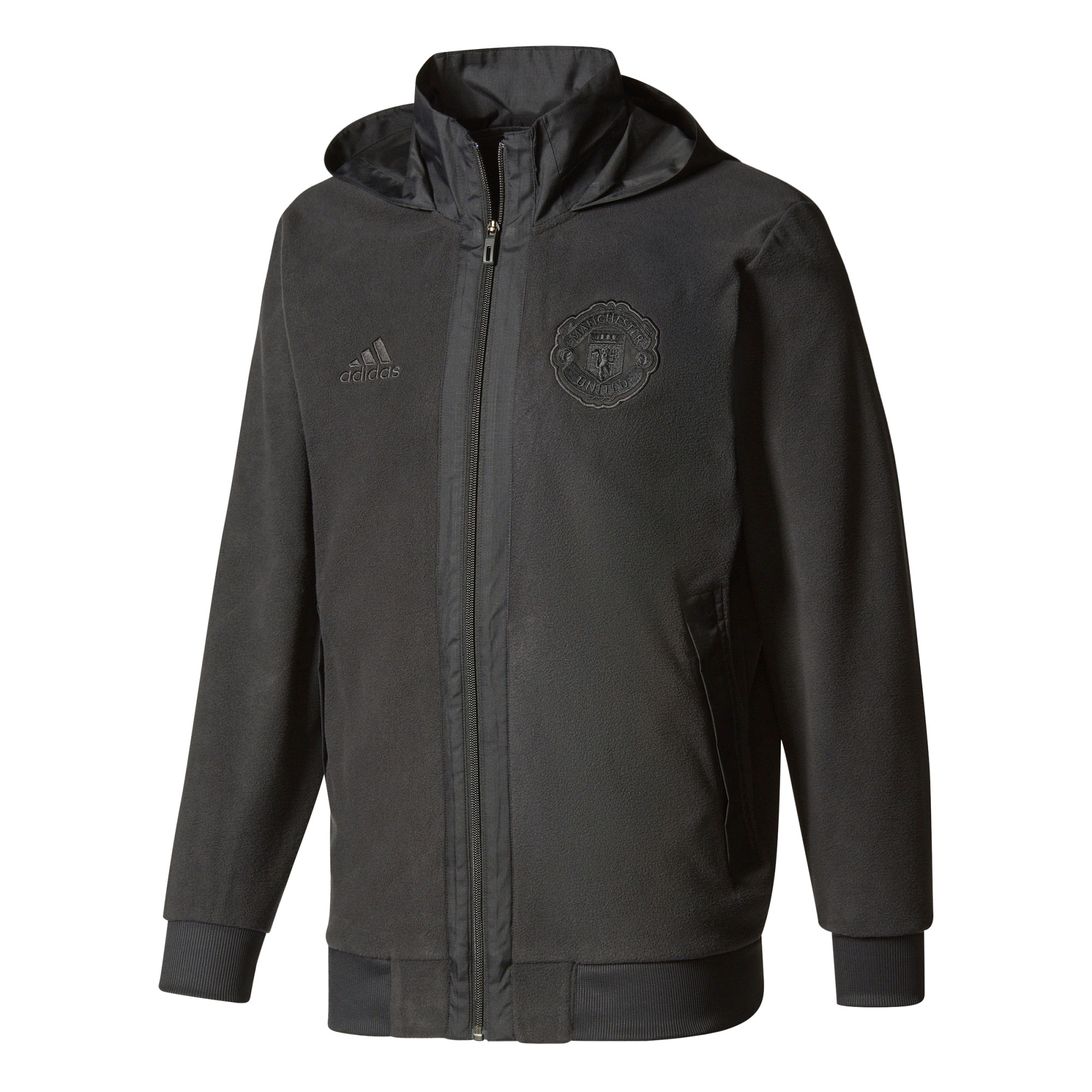 Manchester United Fleece Jacket - Black