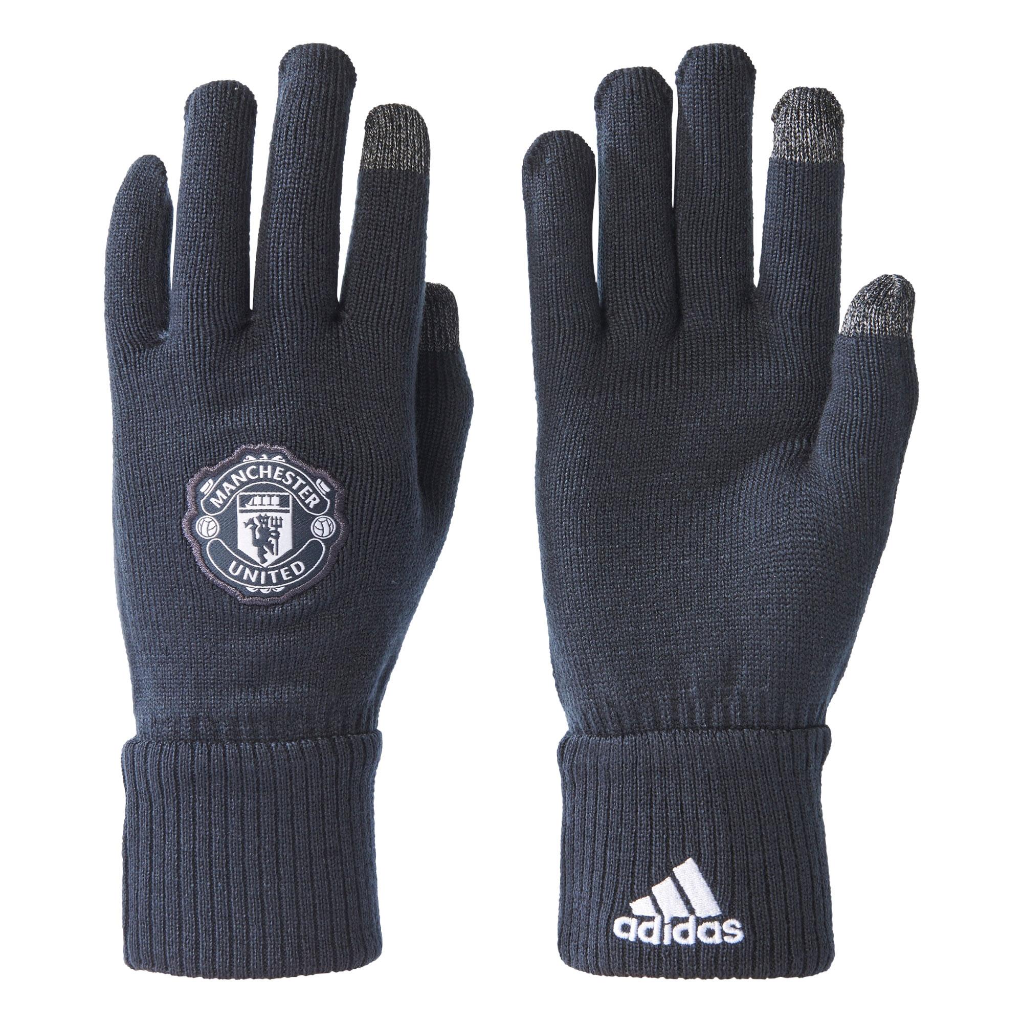 Manchester United Gloves - Dark Grey