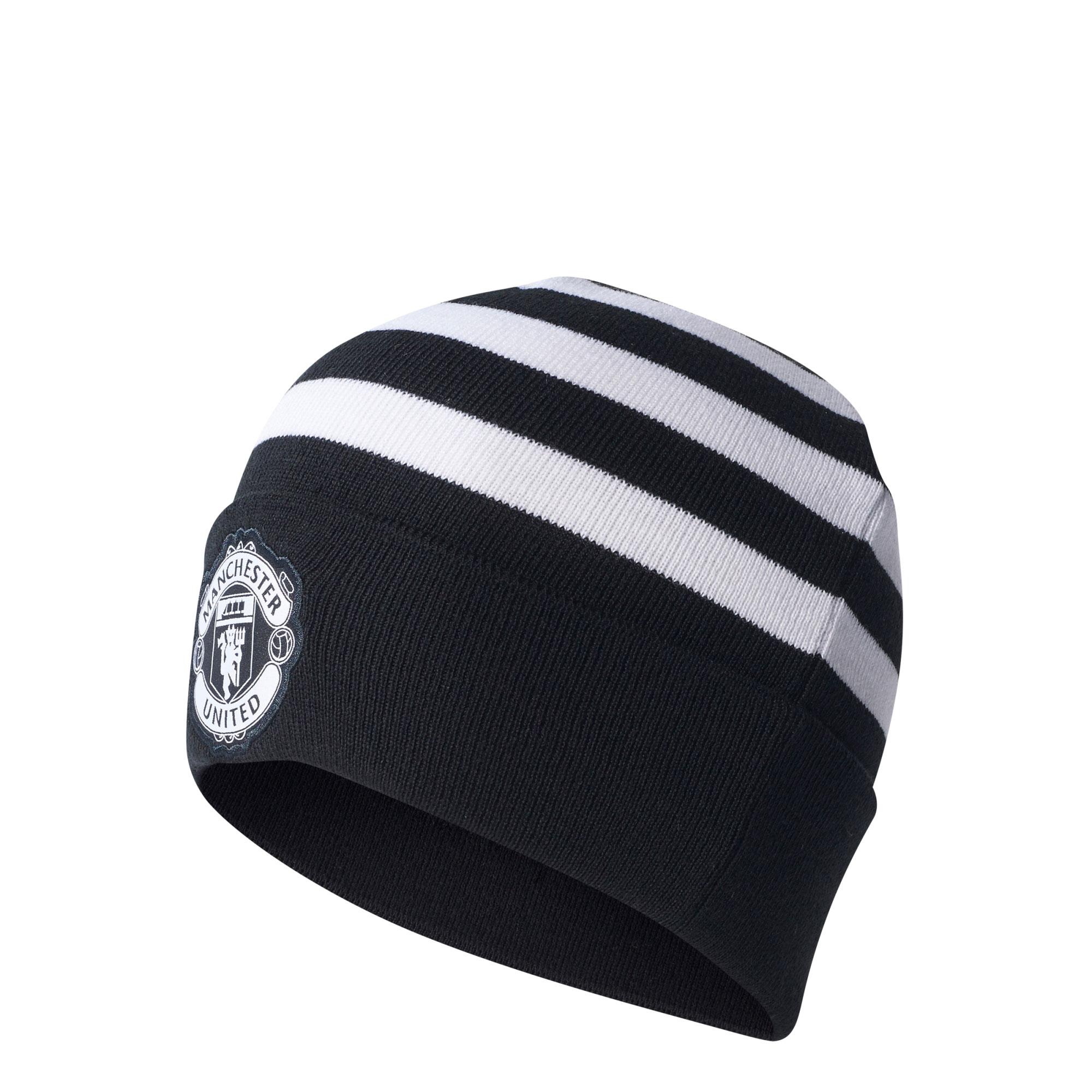 Manchester United 3 Stripe Woolie - Black - White