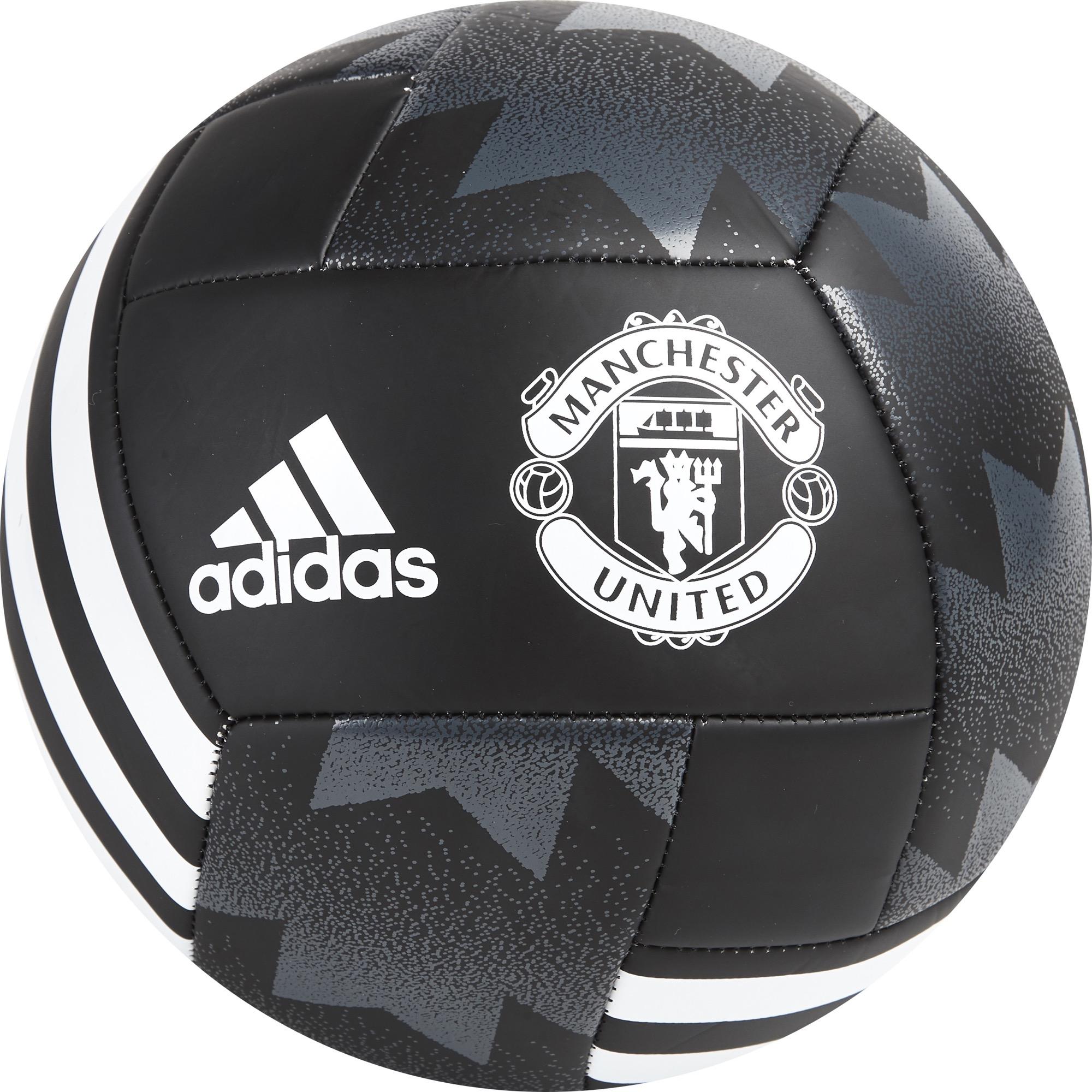 Ballon de football Manchester United-Taille5-Noir/Blanc