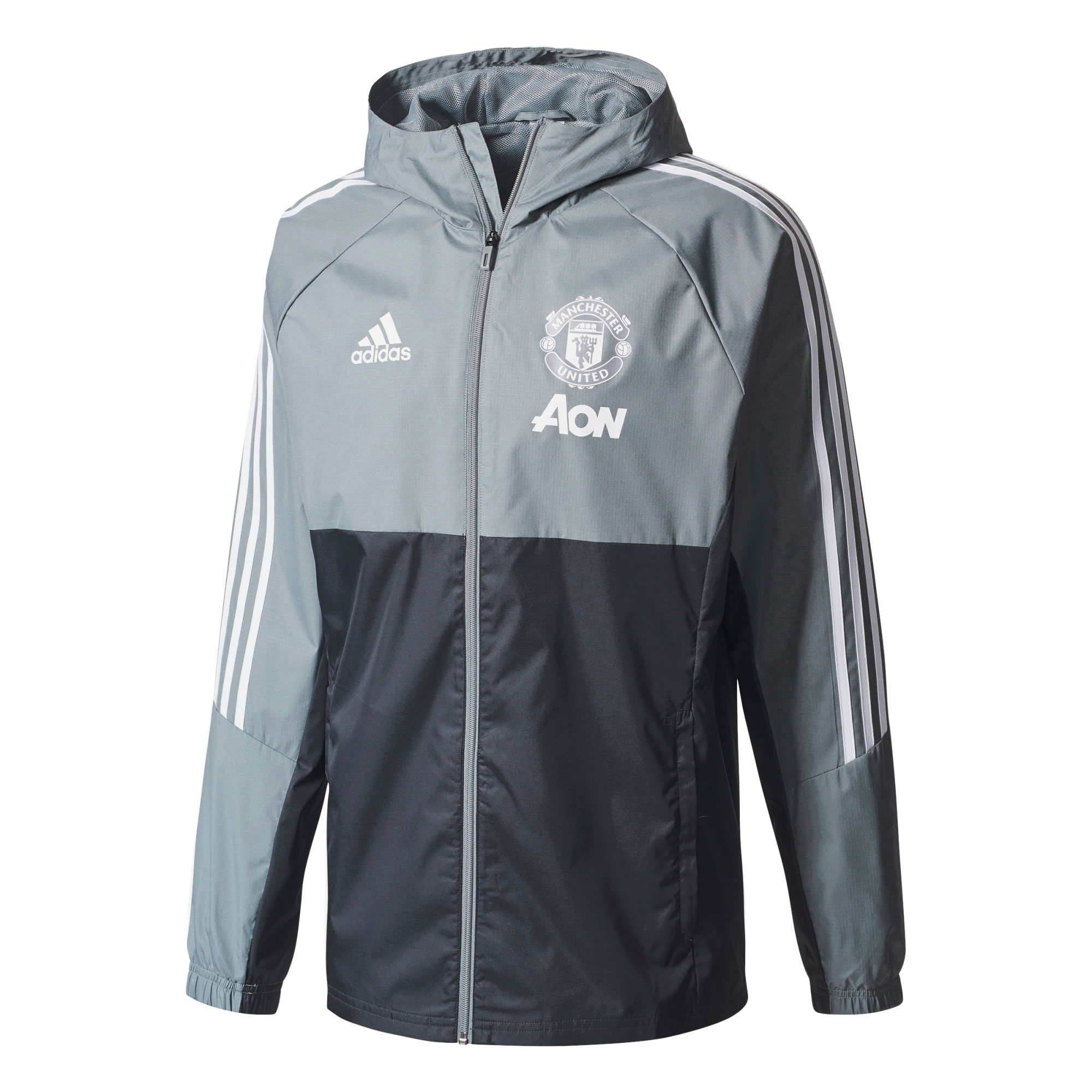 Manchester United Training Rain Jacket - Grey
