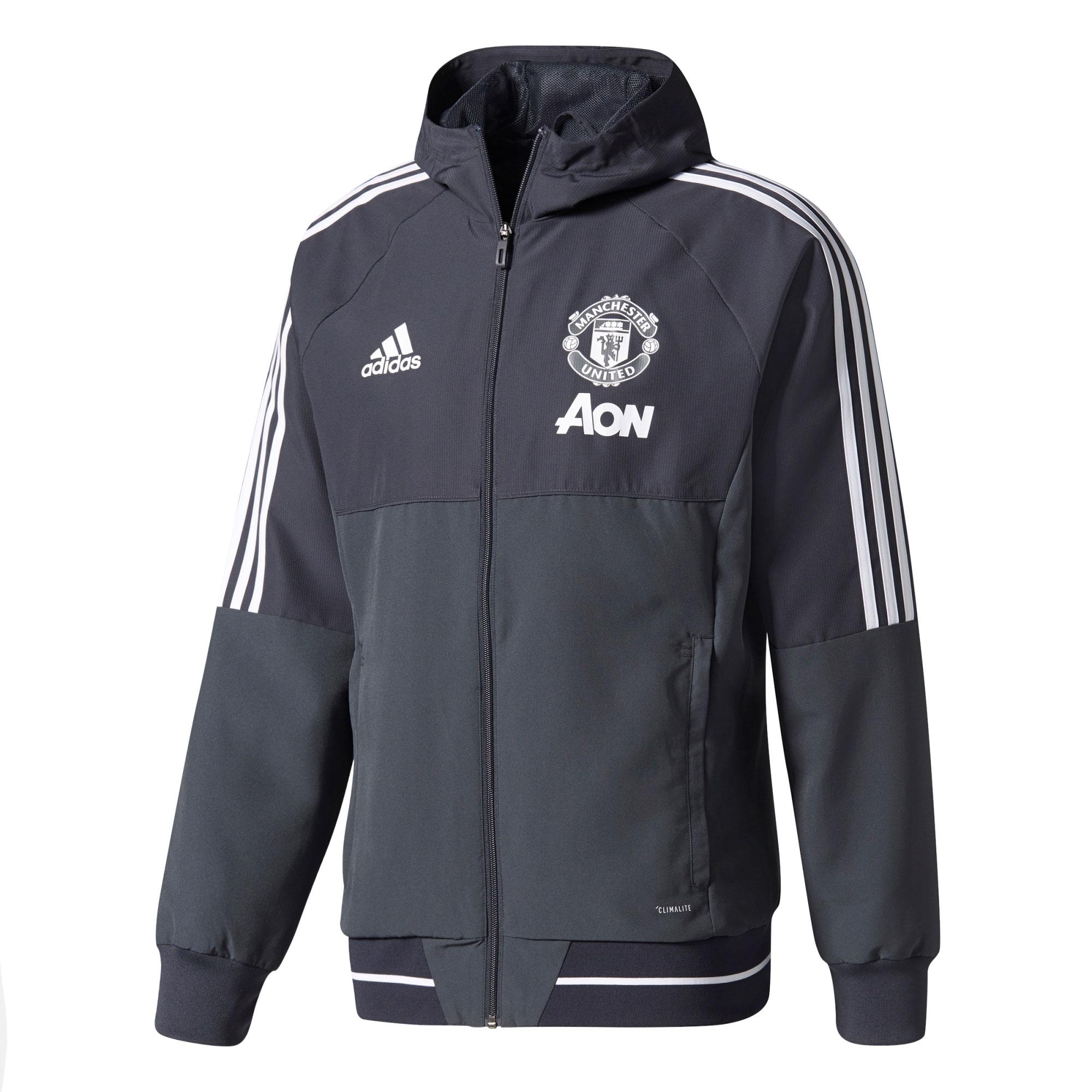 Manchester United Training Presentation Jacket - Dark Grey