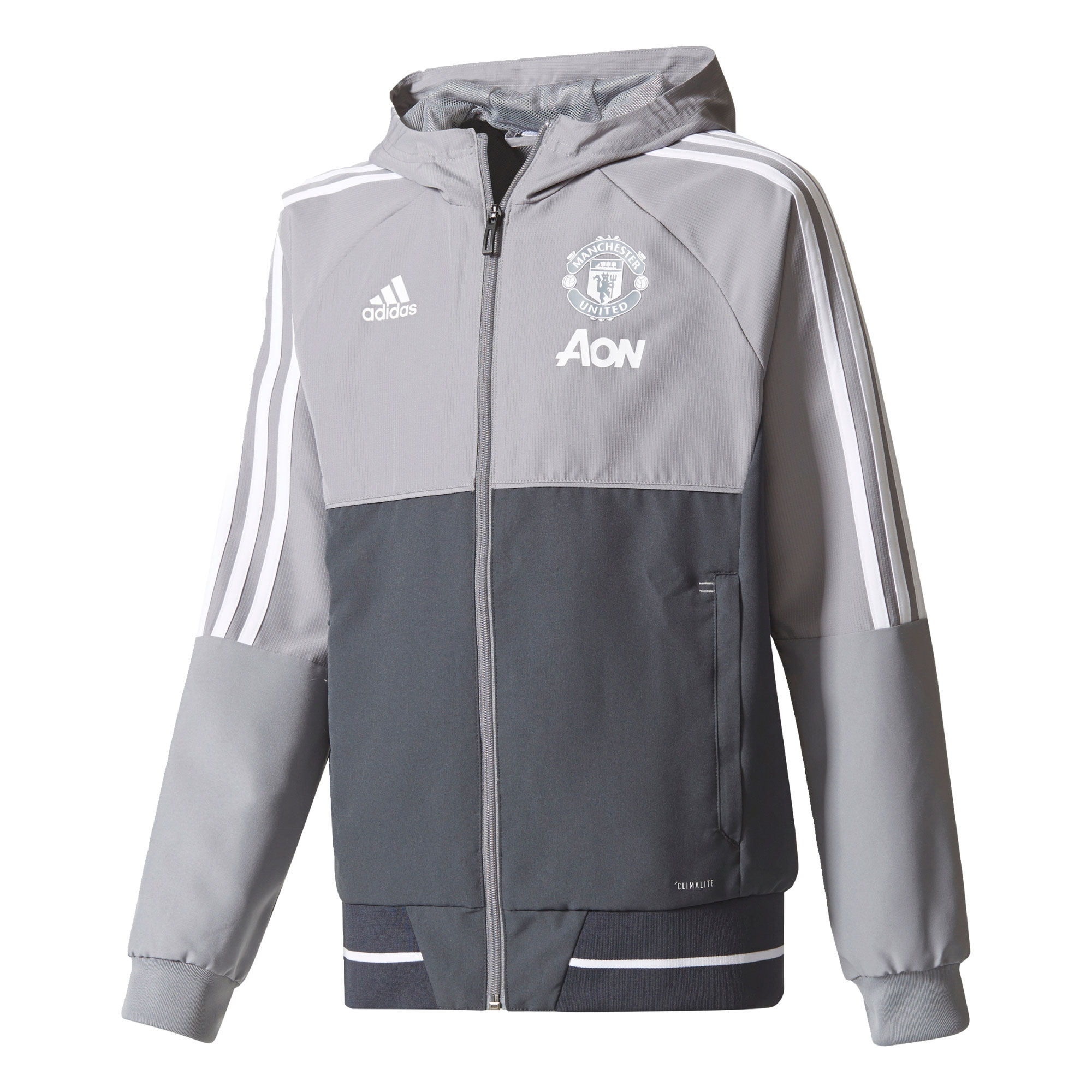 Manchester United Training Presentation Jacket - Grey - Kids