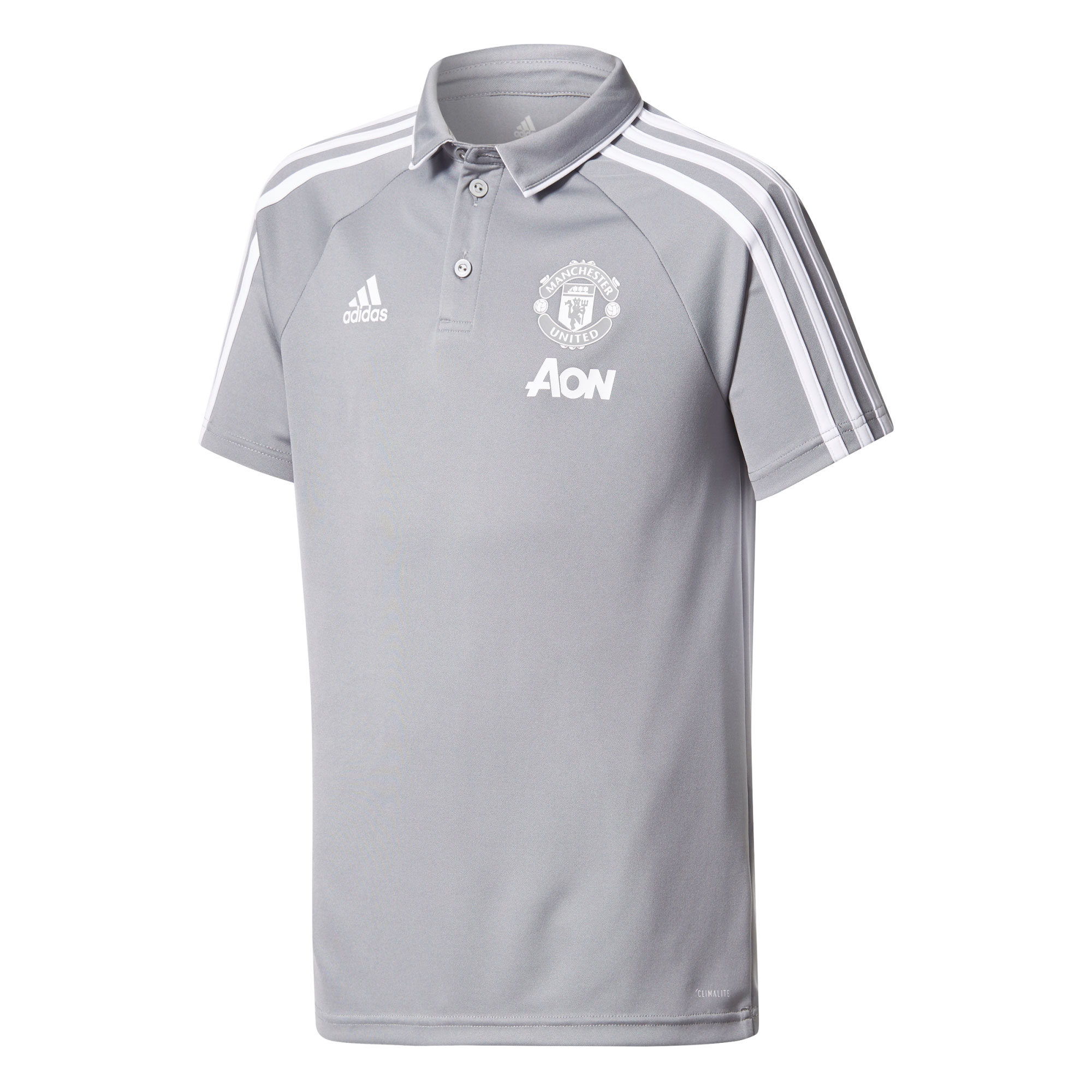 Manchester United Training Polo - Grey - Kids