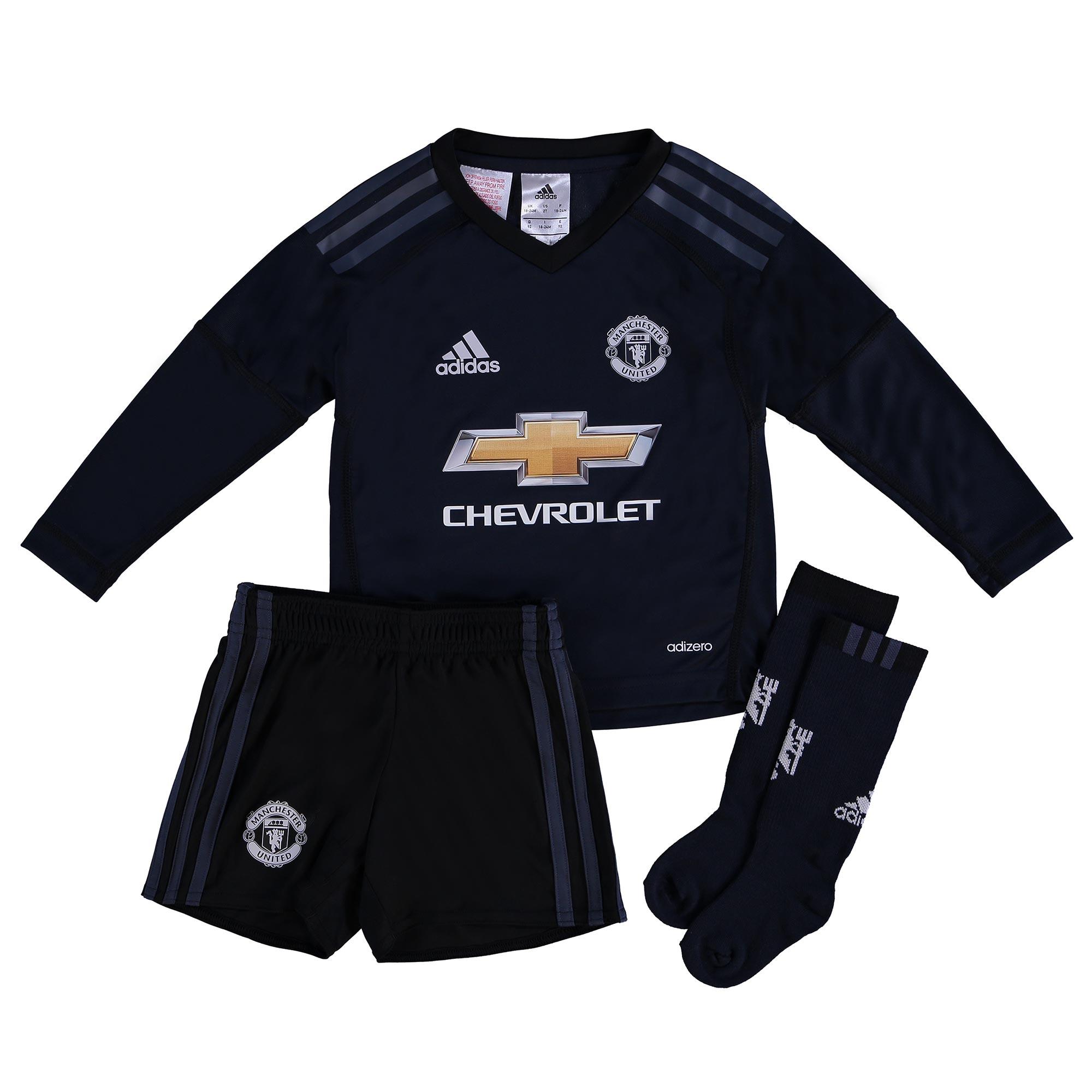 Manchester United Home Goalkeeper Mini Kit 2017-18