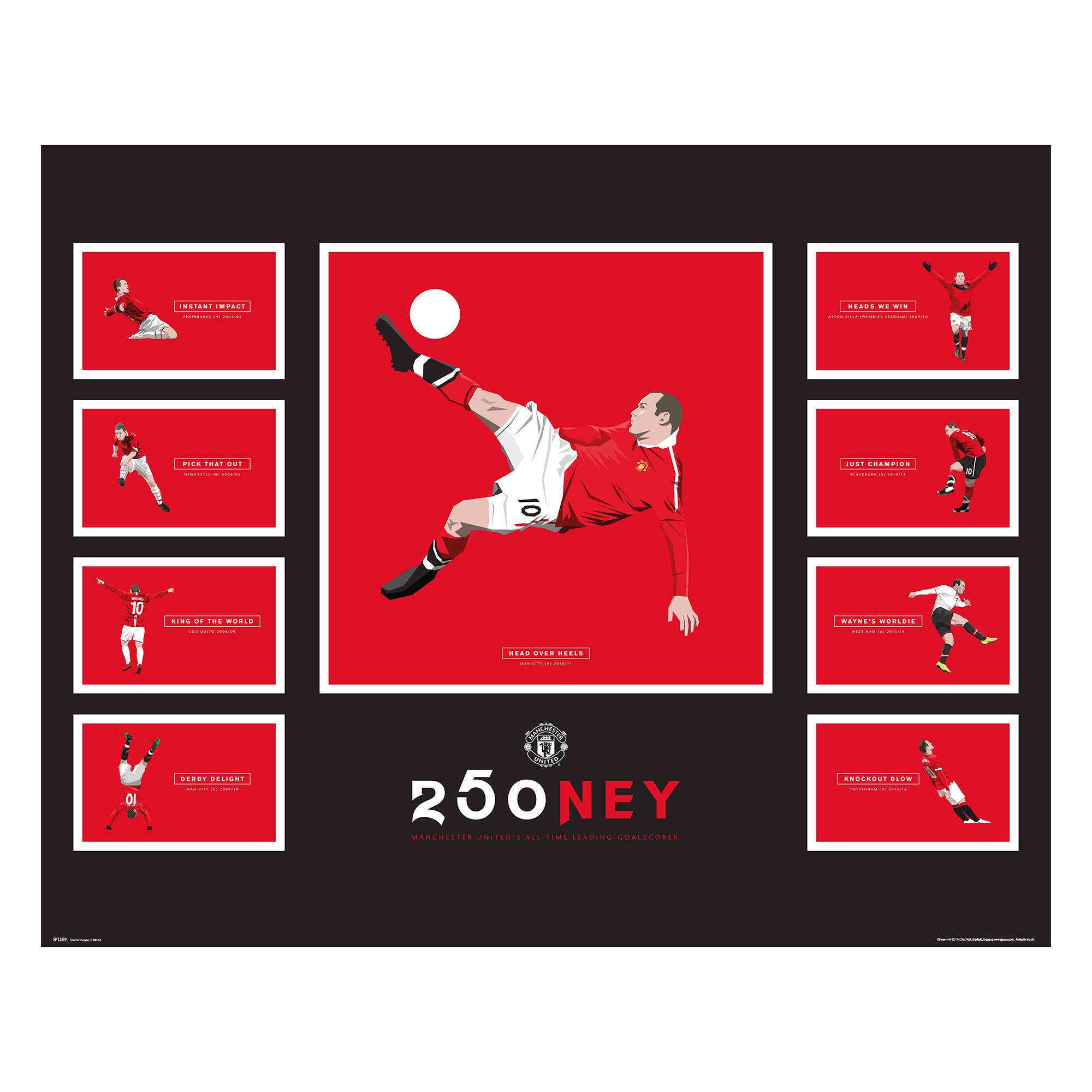 Manchester United 250ney Poster - 61 x 92cm