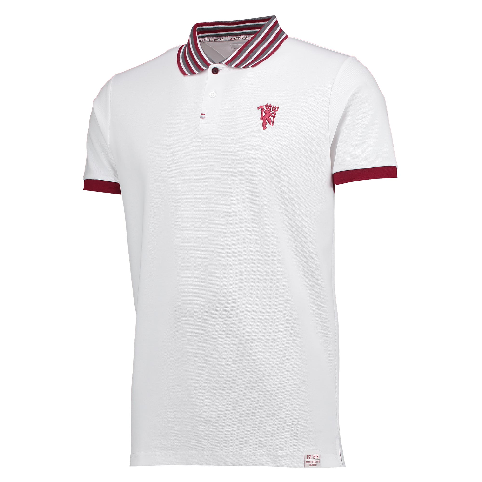 Manchester United Lifestyle Polo Shirt - White - Mens