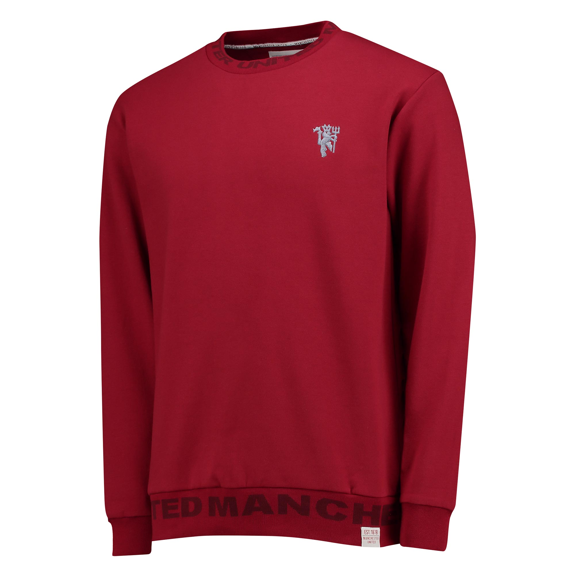 Manchester United Lifestyle Crew Neck Sweater - Brick Red - Mens