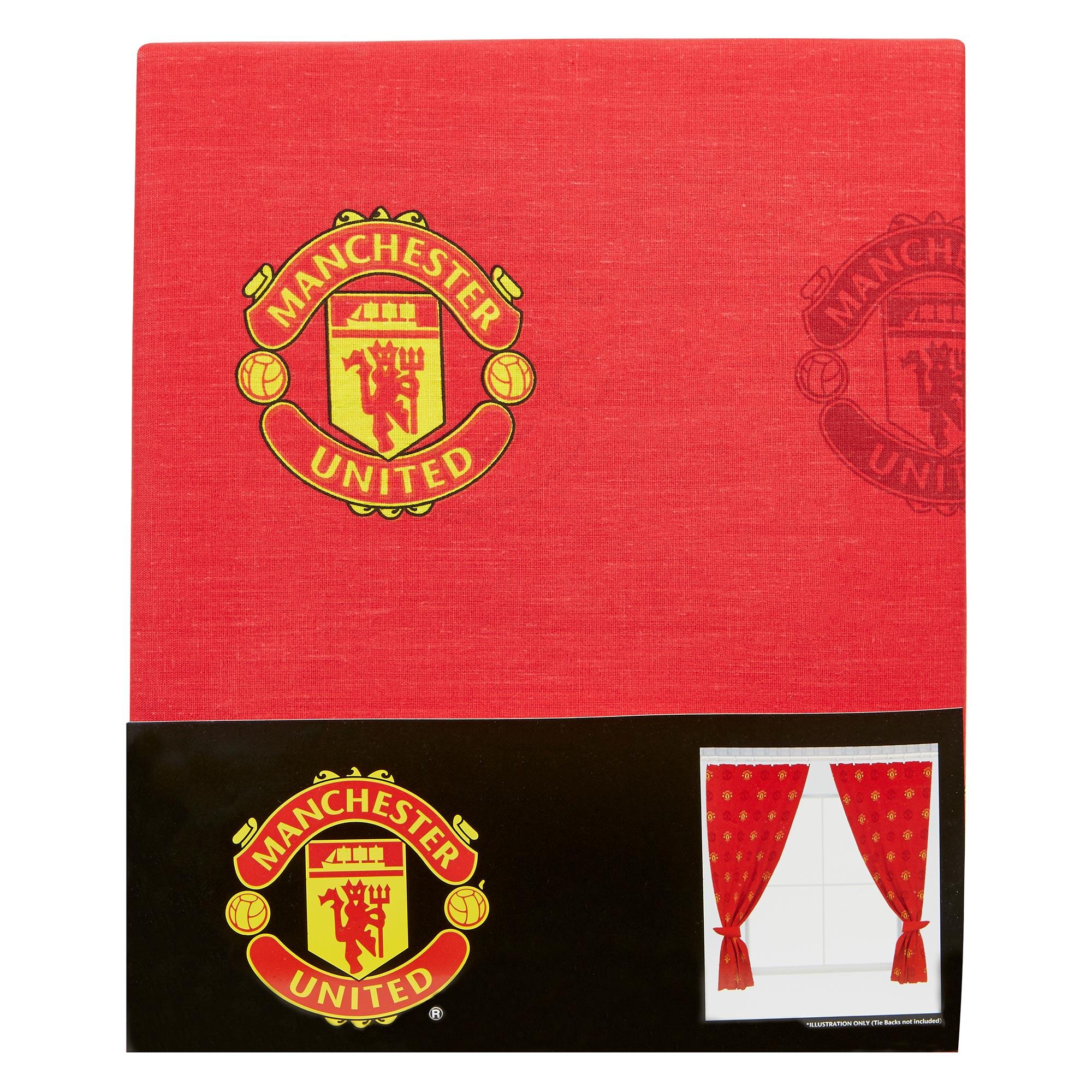 Manchester United Rideaux motif écusson - 137cm