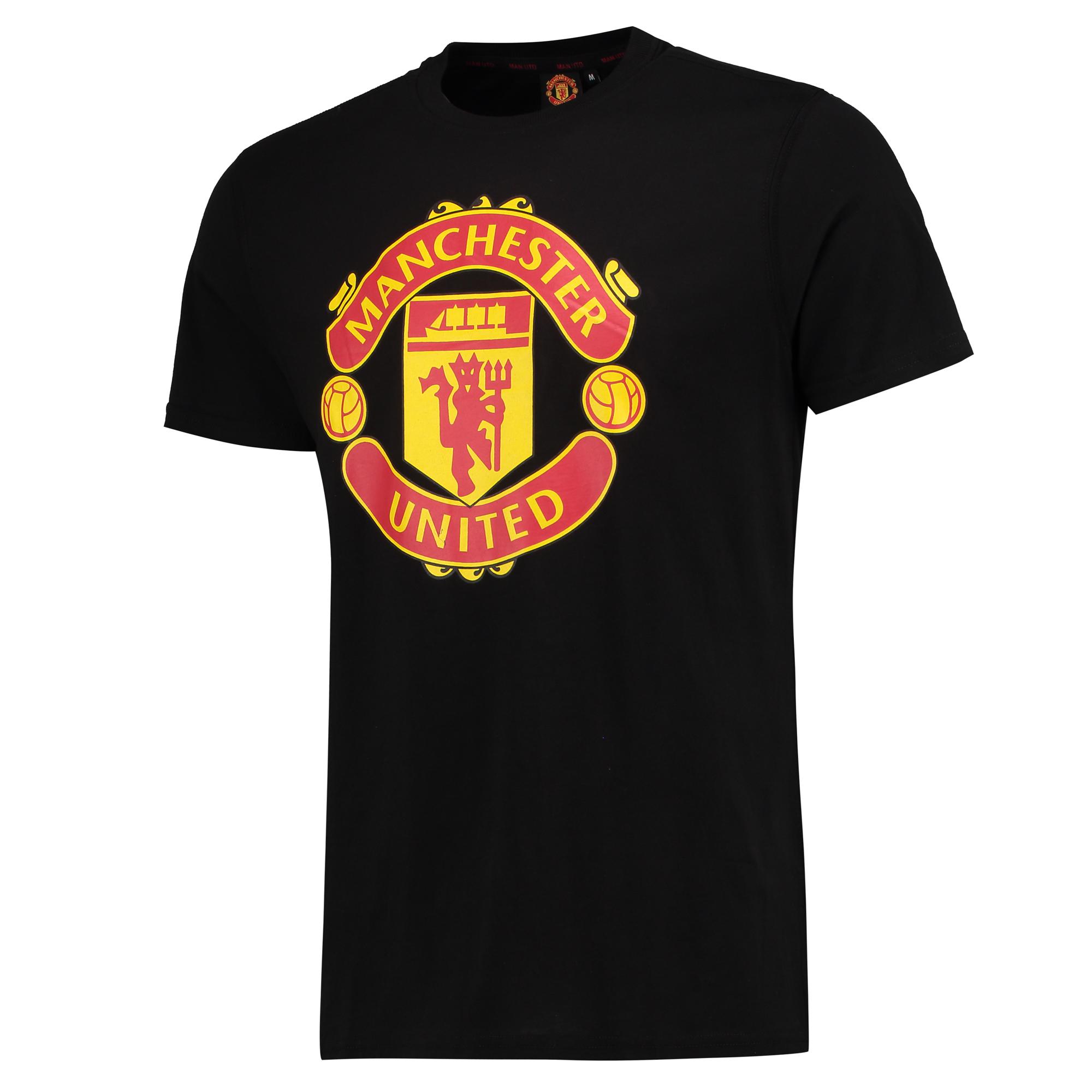 Tee-shirt avec écusson Manchester United Core - Noir - Homme