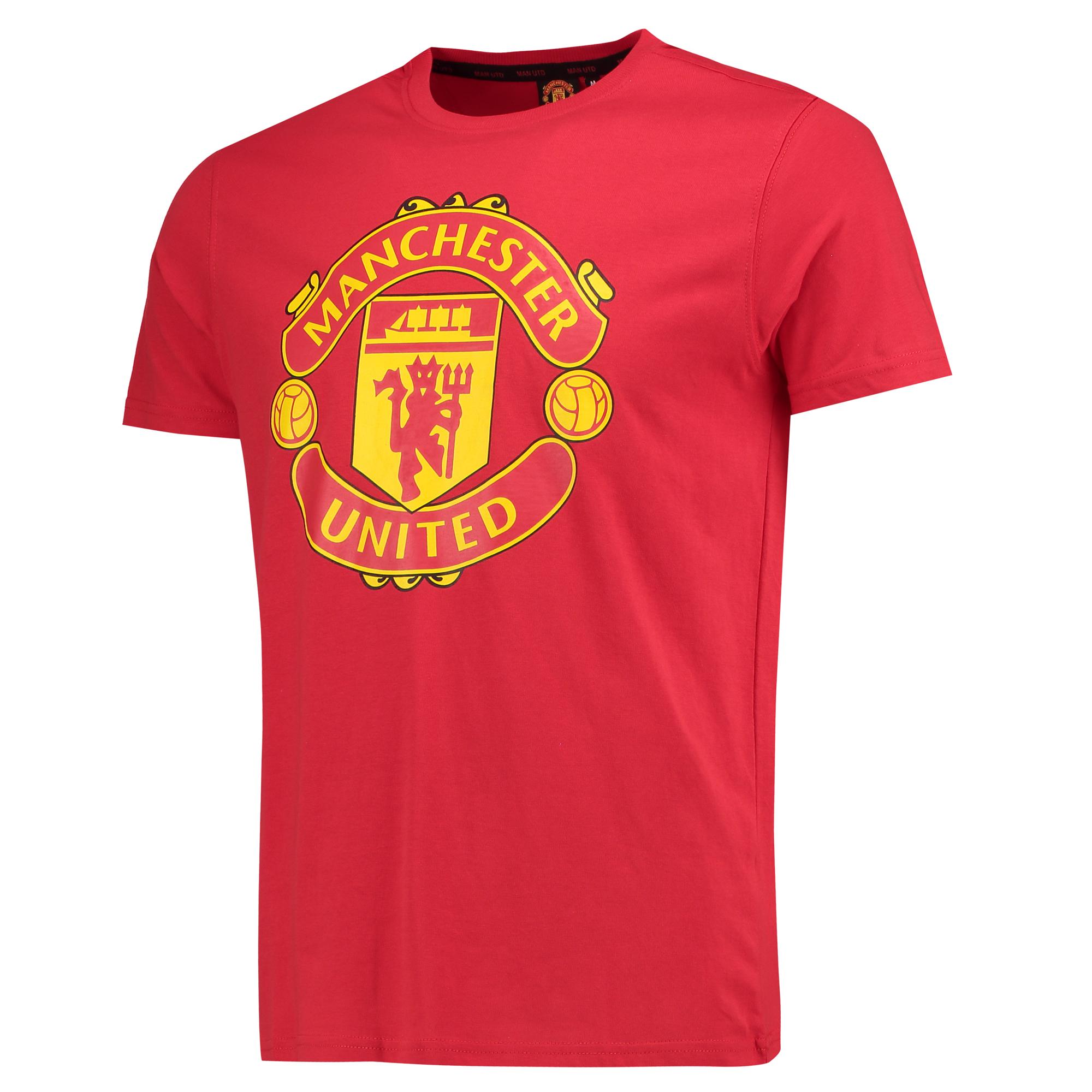 Tee-shirt avec écusson Manchester United Core - Rouge - Homme