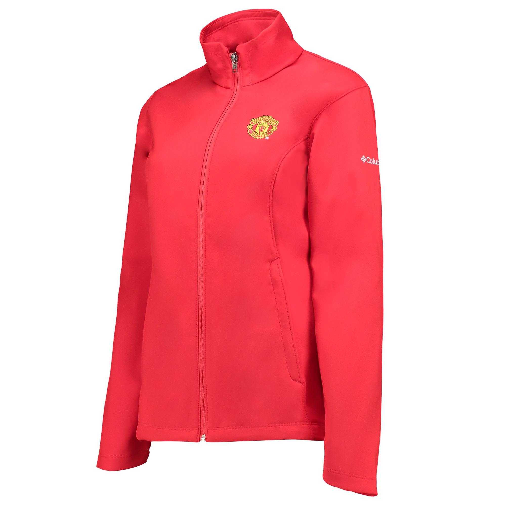 Manchester United Columbia Kruser Ridge Softshell Jacket - Cherrybomb