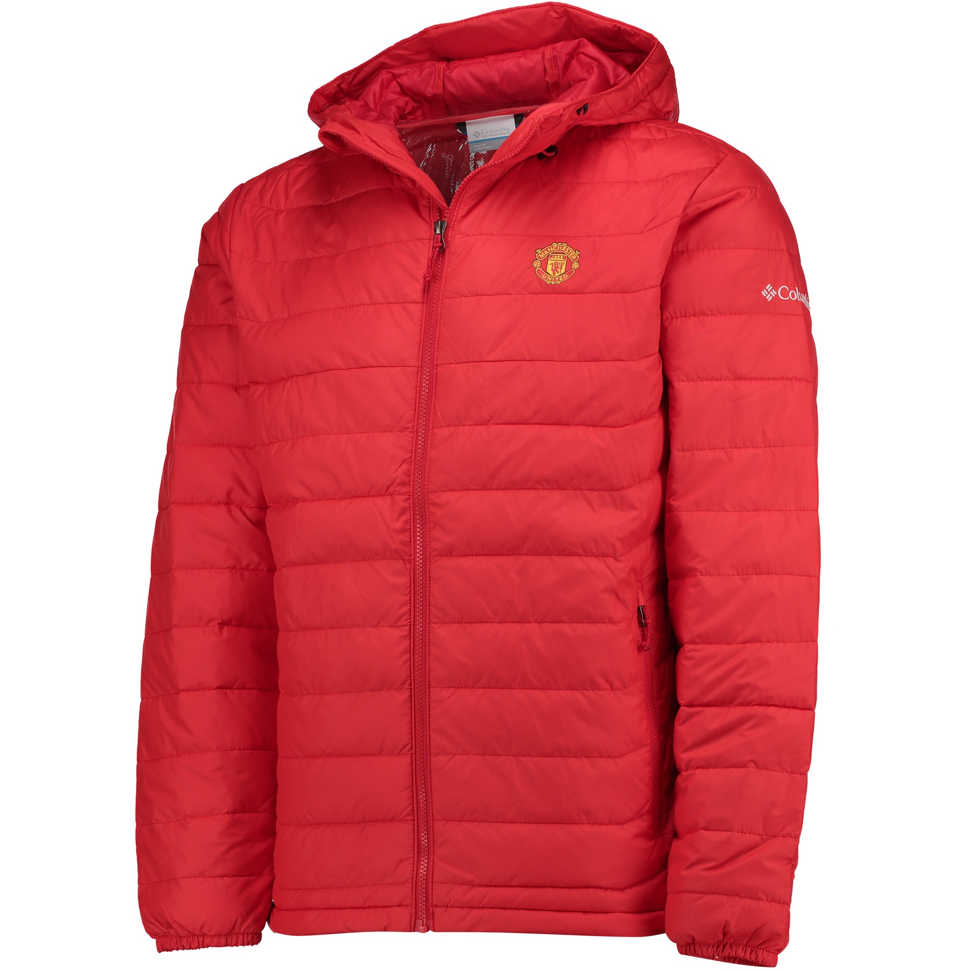 Manchester United Columbia Powder Lite Hooded Jacket - Cherrybomb - Me