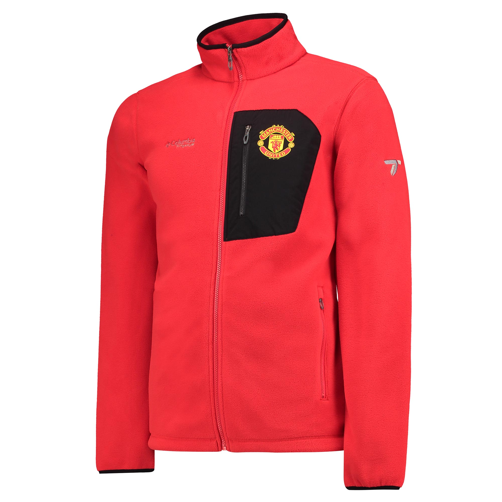 Manchester United Columbia Titan Pass 2.0 Fleece Jacket - Cherrybomb -