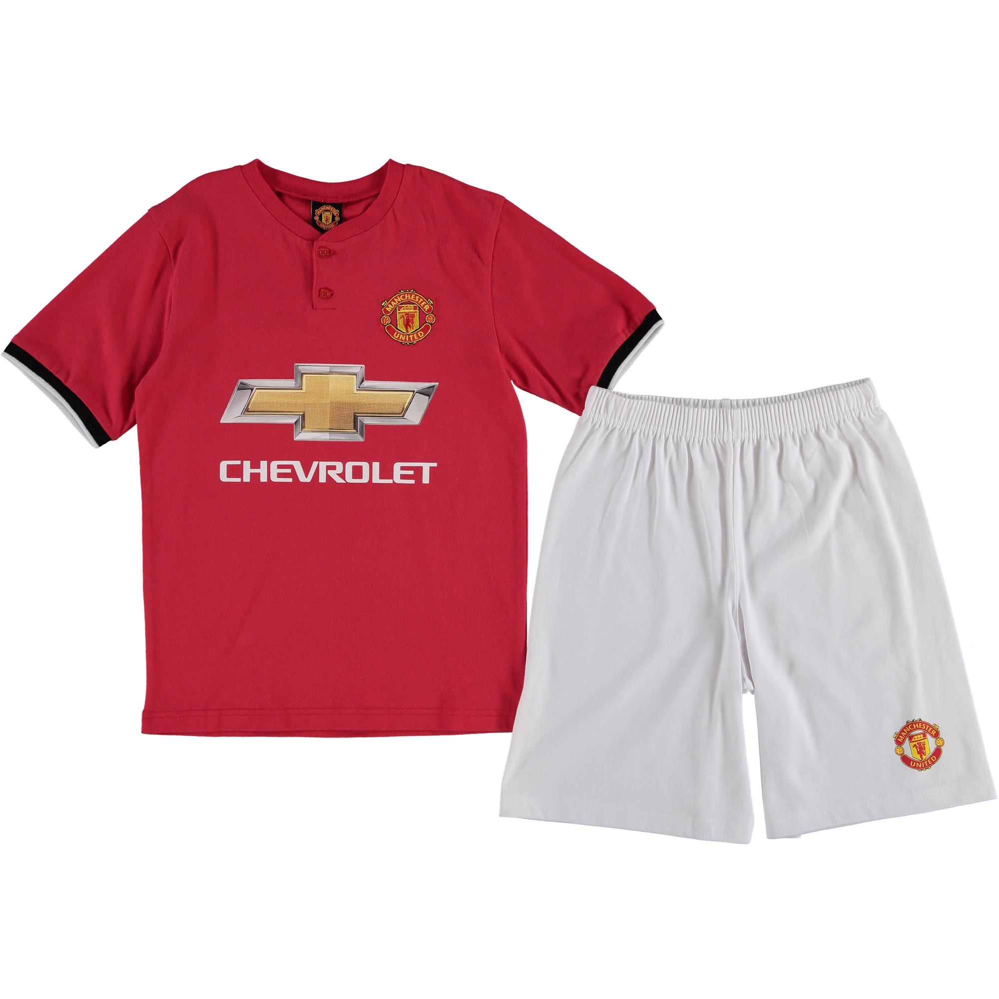 Pyjama Manchester United Domicile - Rouge/Blanc - Enfant