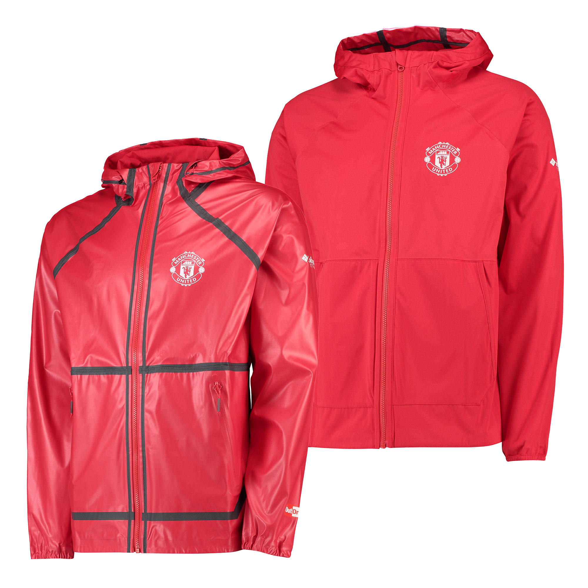 Manchester United Columbia OutDry Ex Reversible Jacket - Red - Mens