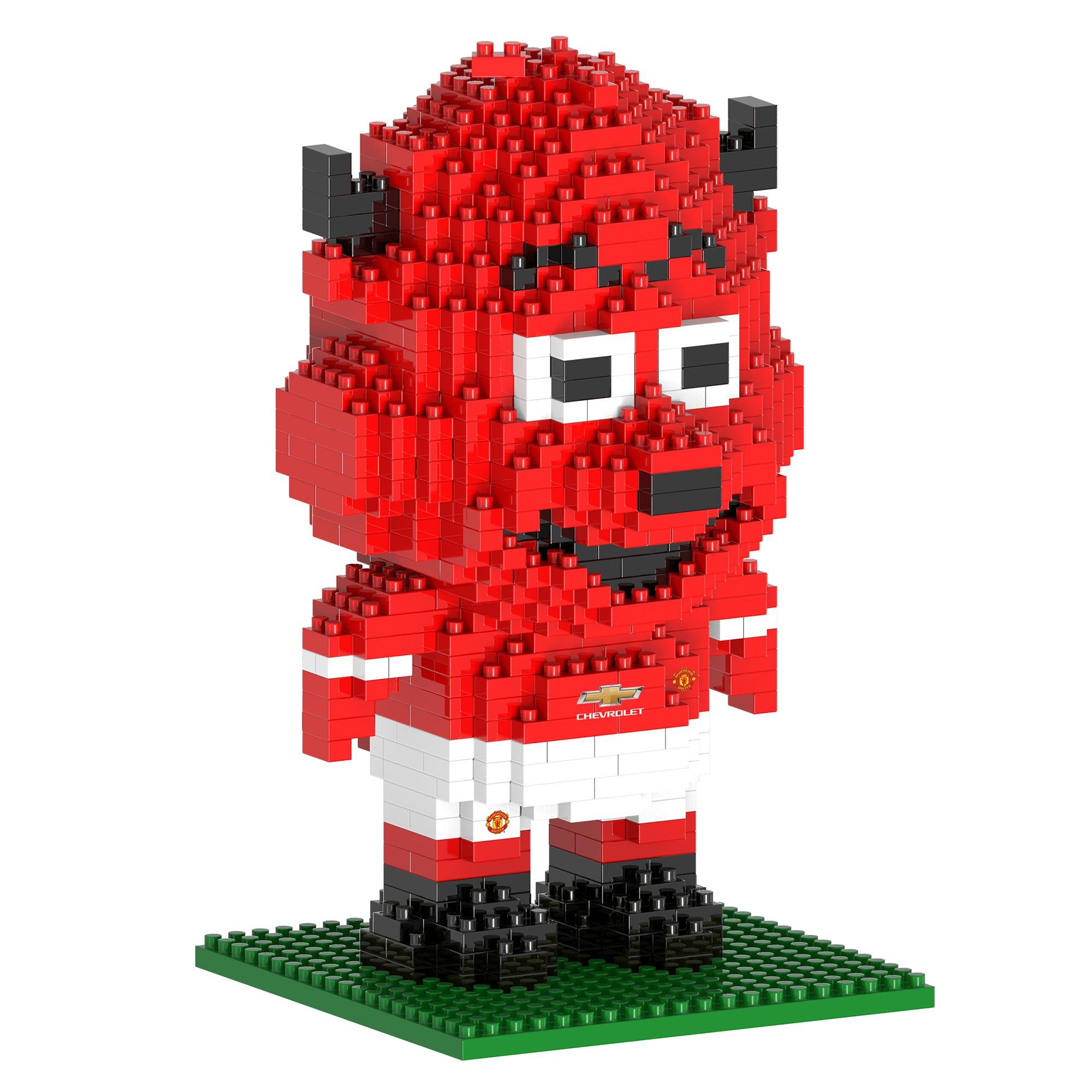 Manchester United Kit de construction 3D mascotte BRXLZ