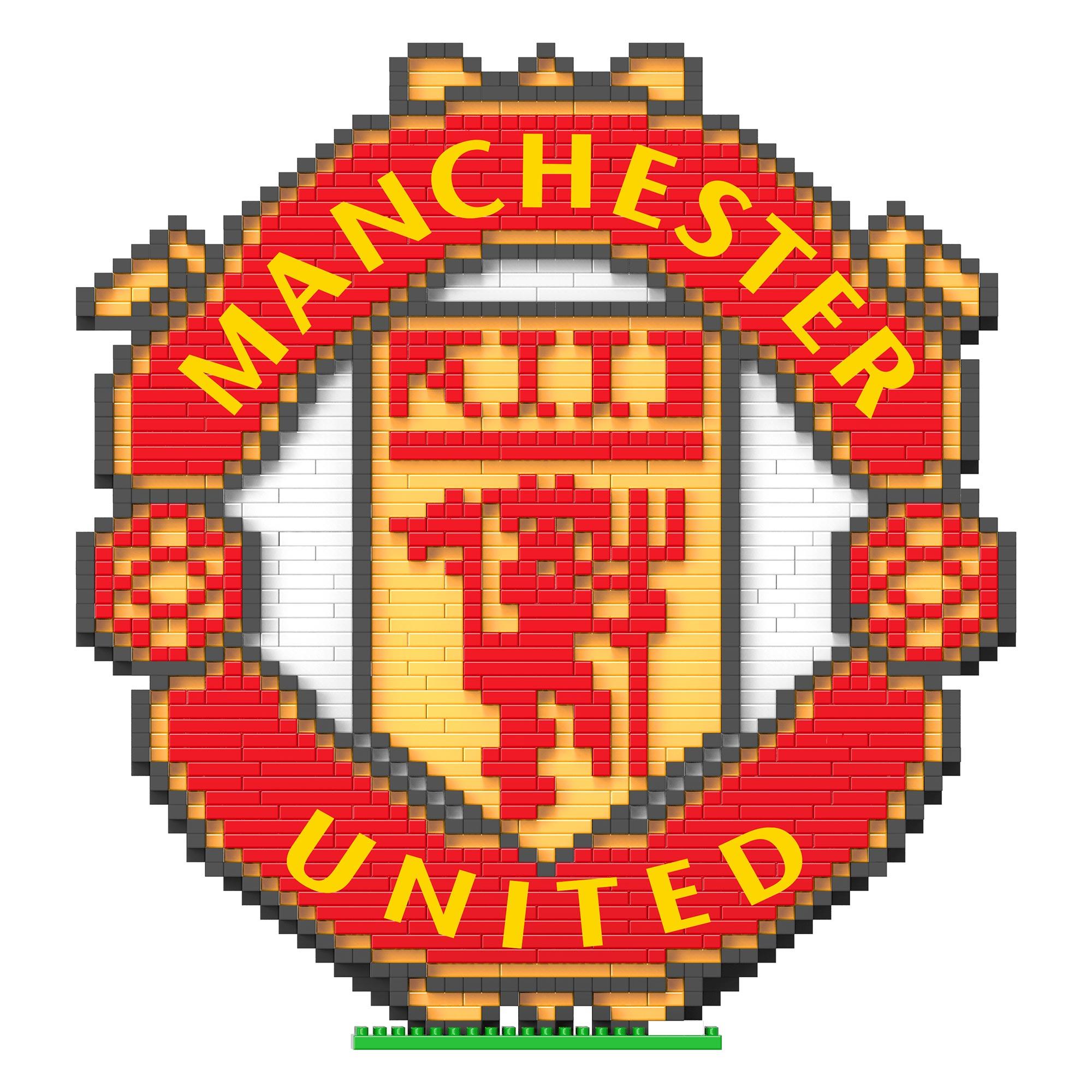 Manchester United Kit de construction 3D Large Crest BRXLZ