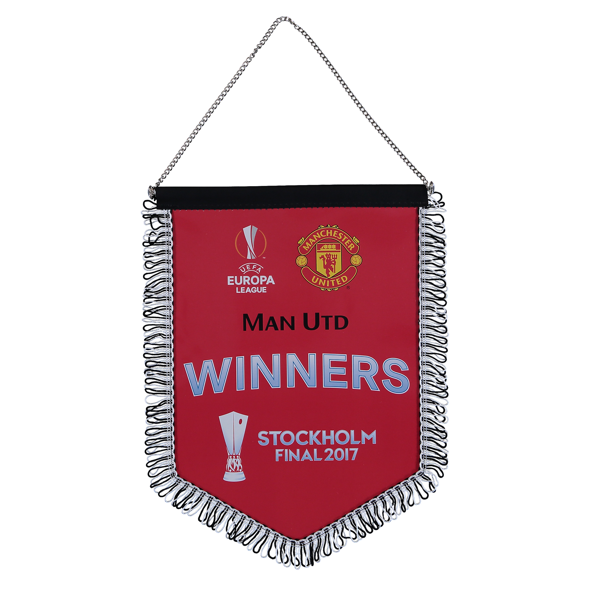 Manchester United Europa League 2017 Winners Pennant - Red