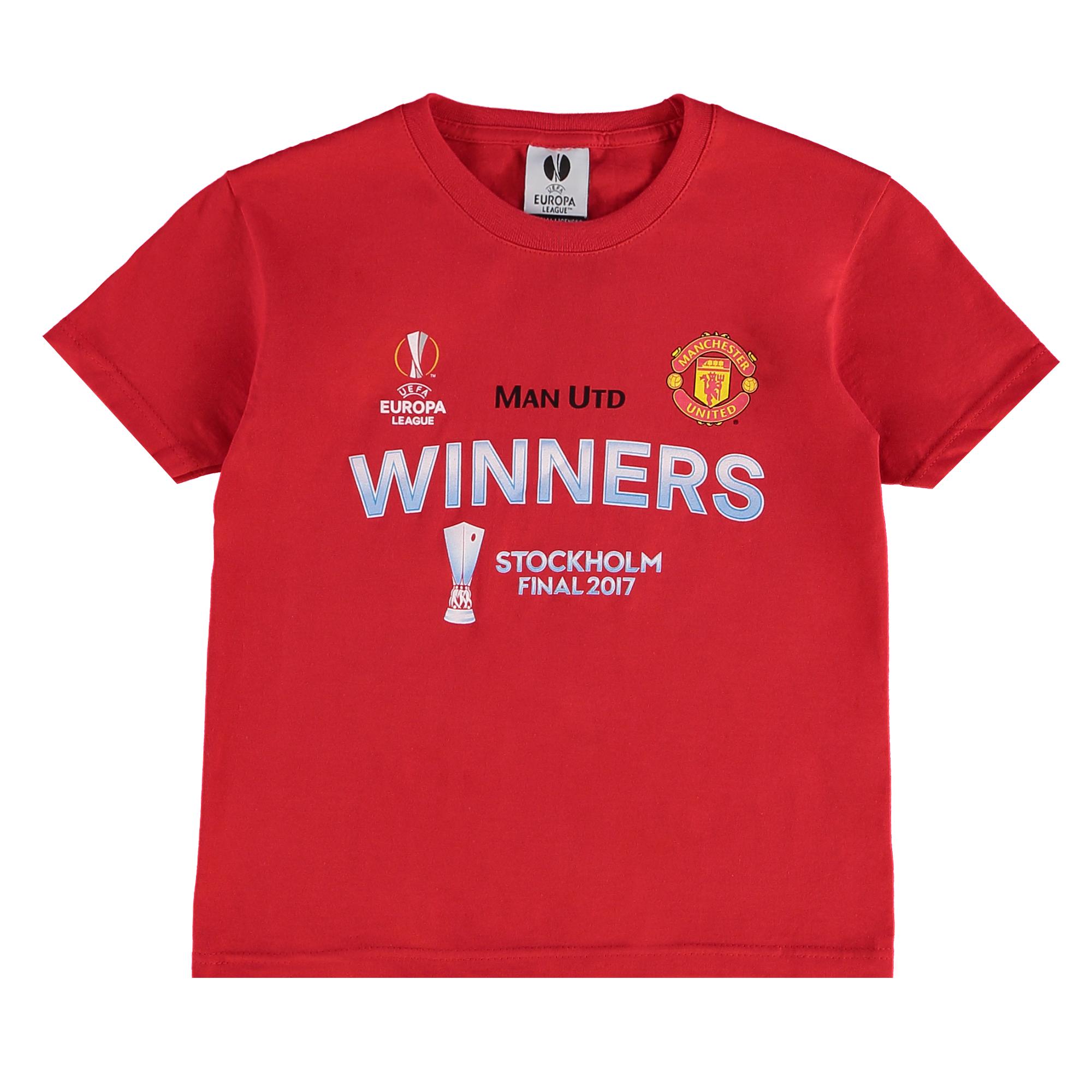 Manchester United Europa League 2017 Winners T-Shirt - Red - Kids