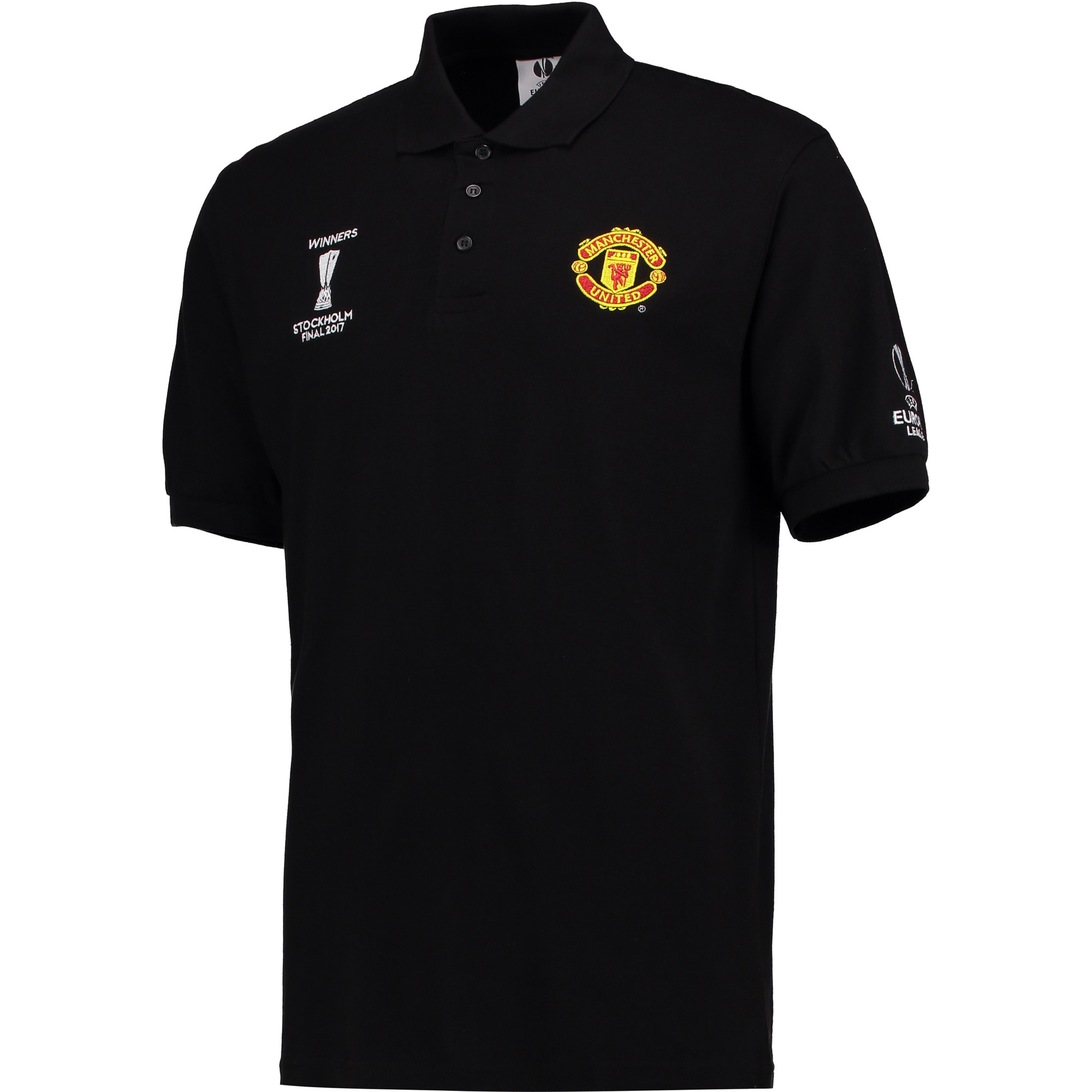 Manchester United Europa League 2017 Winners Polo Shirt - Black - Mens