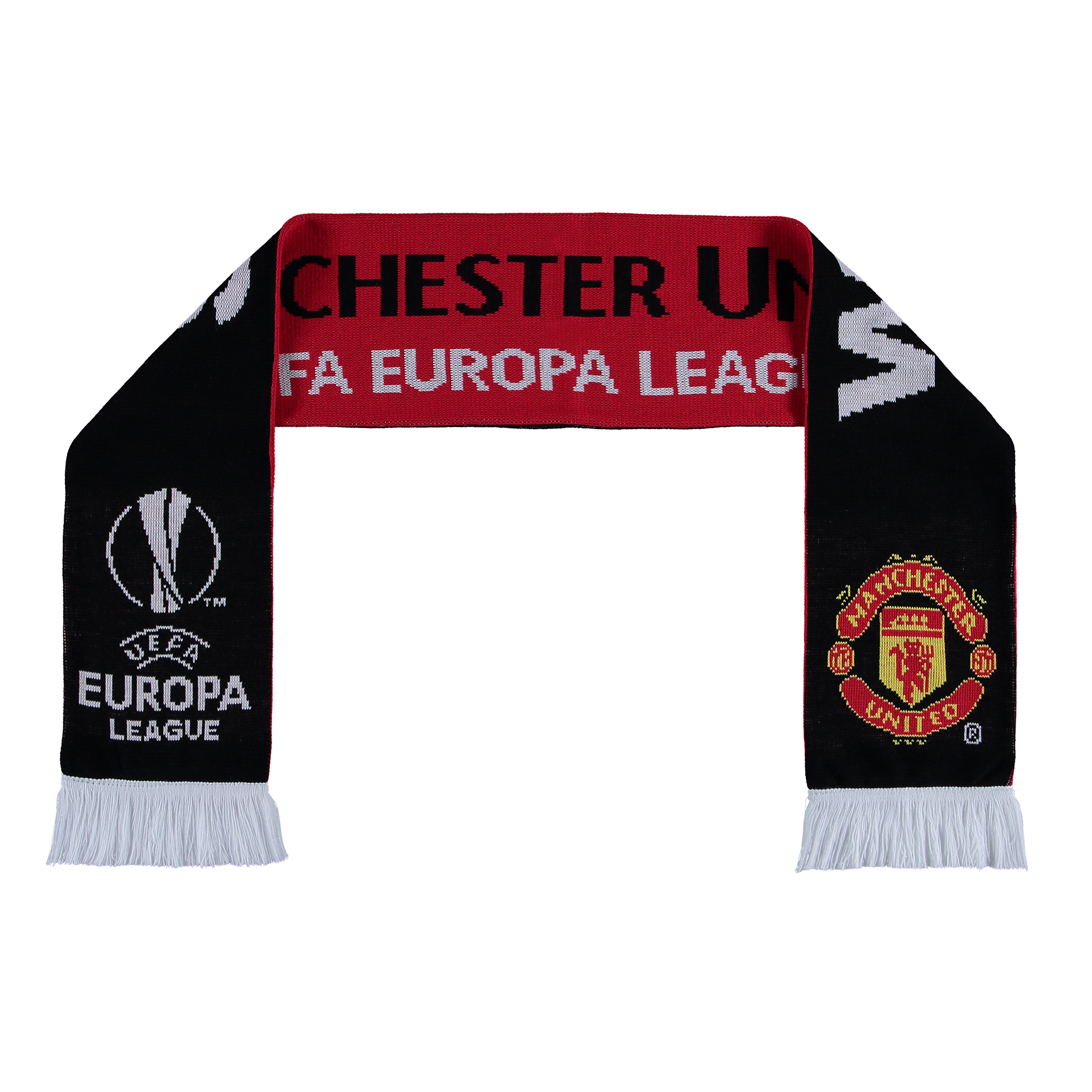 Manchester United Europa League 2017 Winners Scarf - Red-Black