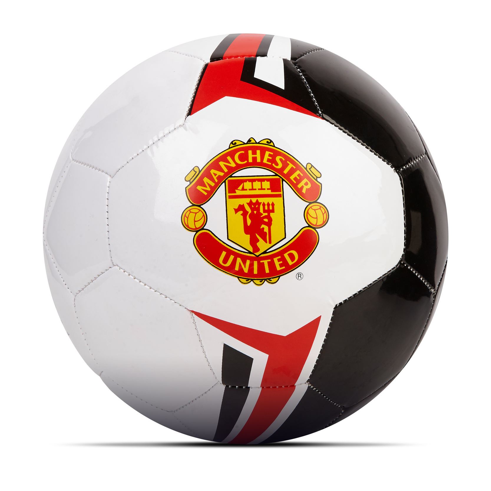 Ballon de football Manchester United - Blanc-Noir-Rouge - Taille 4