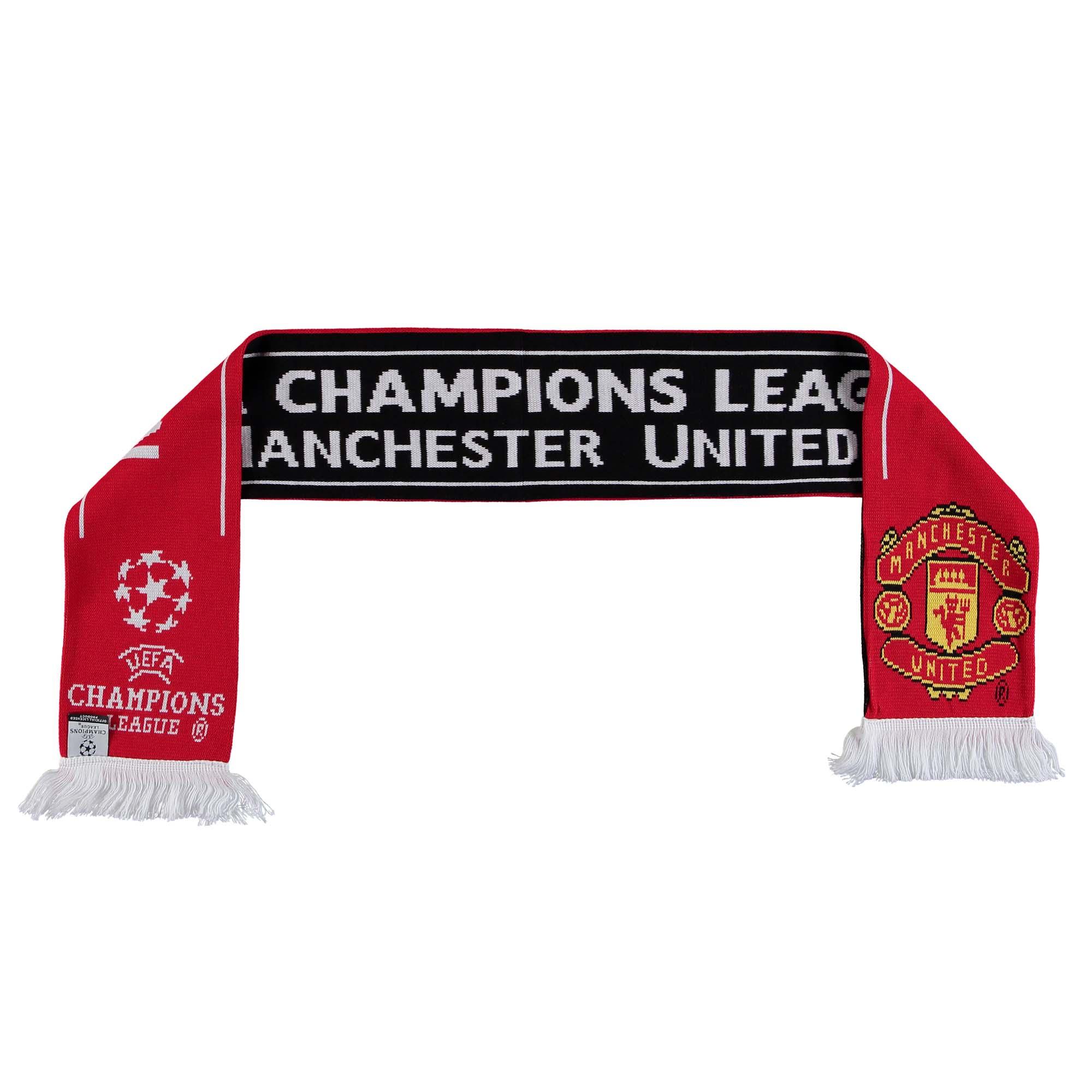 Écharpe en jacquard Manchester United UEFA Champions League - Rouge - Adulte