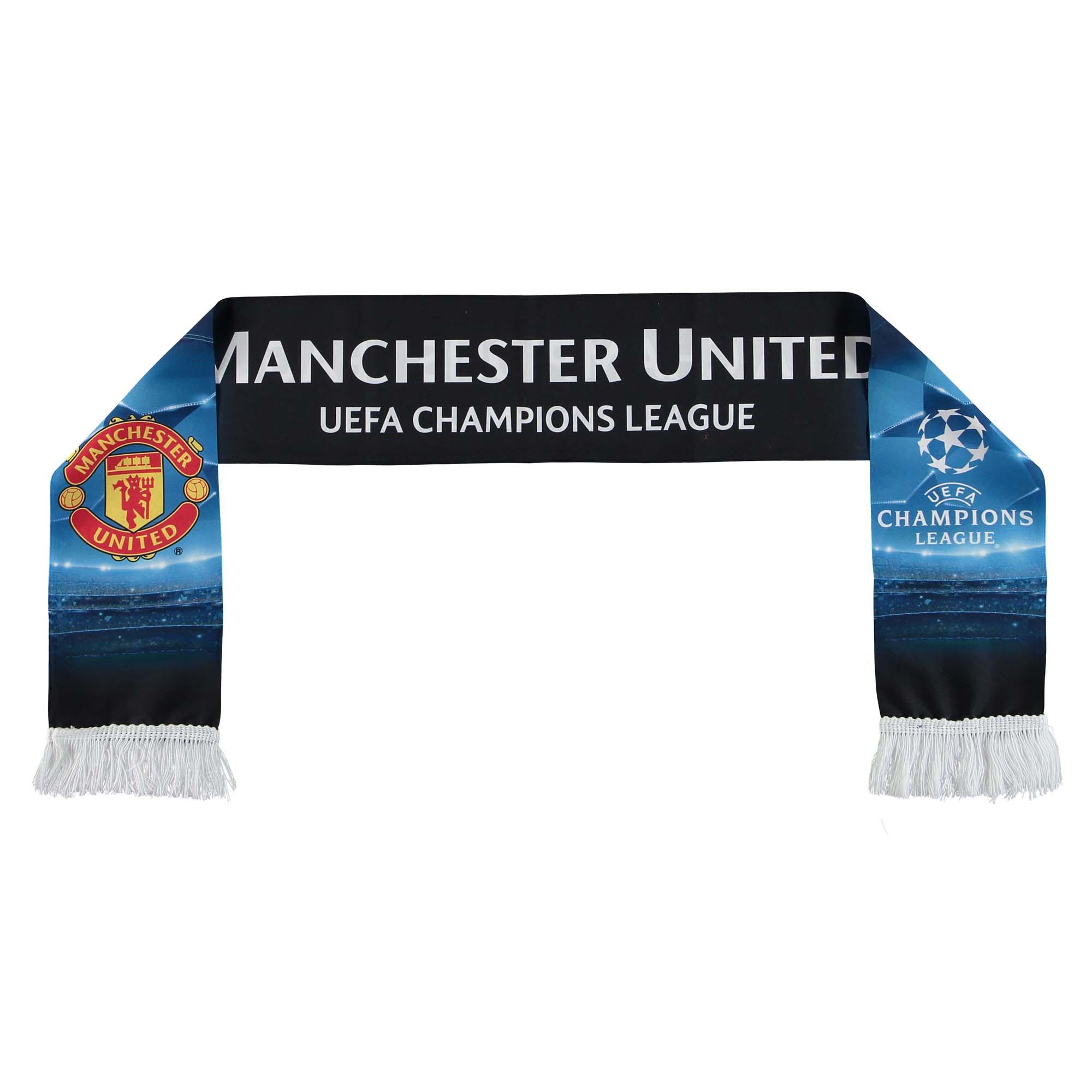 Écharpe imprimée Manchester United UEFA Champions League - Noir - Adulte