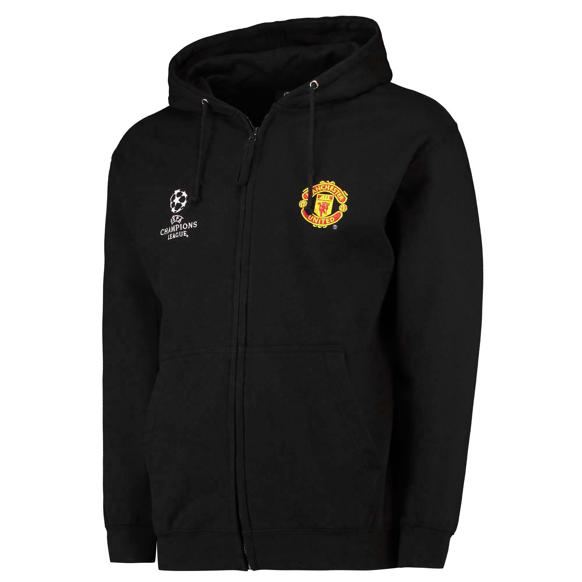 Sweat à capuche Manchester United UEFA Champions League - Noir - Homme