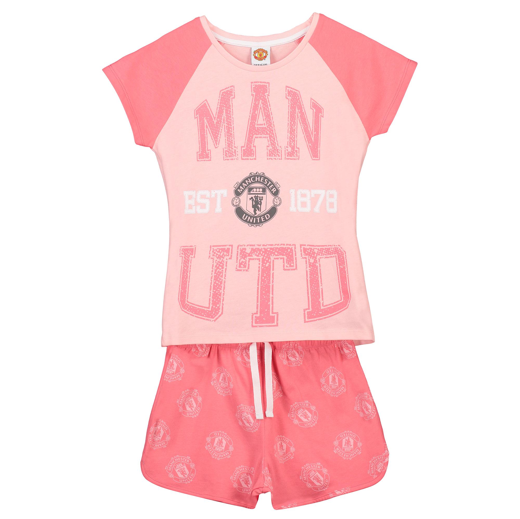 Pyjama avec short Manchester United Established 1878 - Rose - Fille